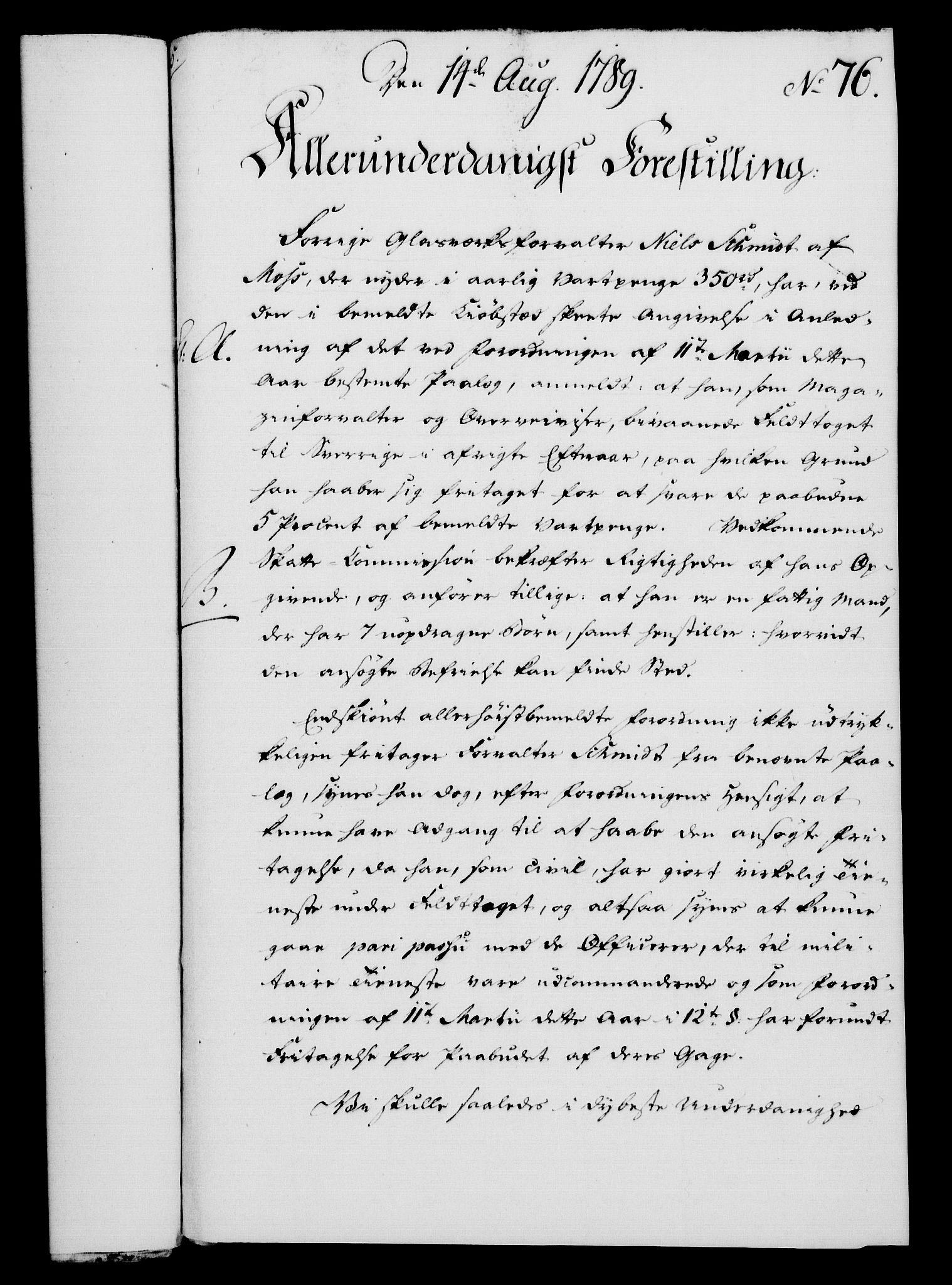 RA, Rentekammeret, Kammerkanselliet, G/Gf/Gfa/L0071: Norsk relasjons- og resolusjonsprotokoll (merket RK 52.71), 1789, s. 433