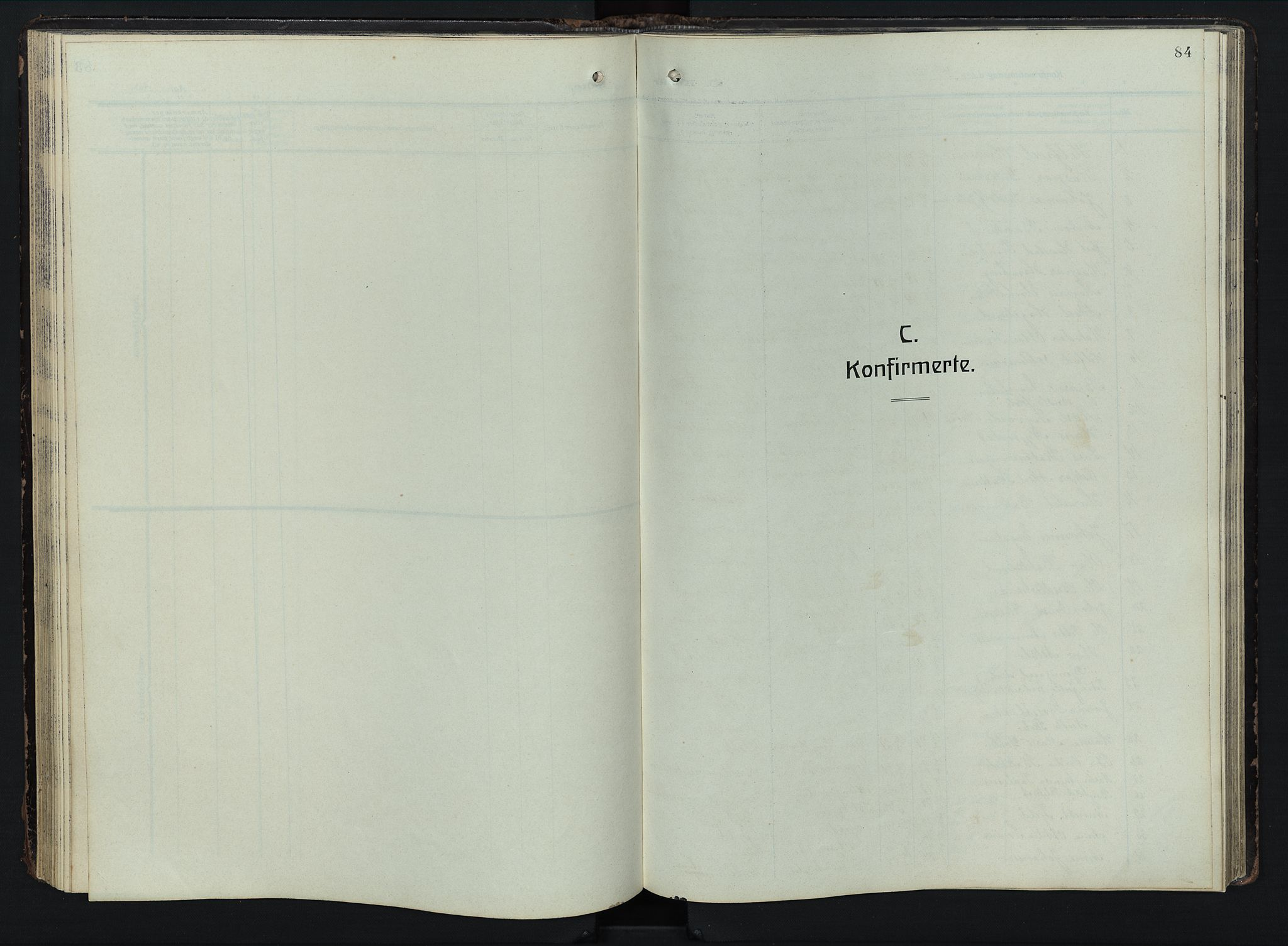 SAH, Østre Toten prestekontor, Klokkerbok nr. 9, 1908-1956, s. 84