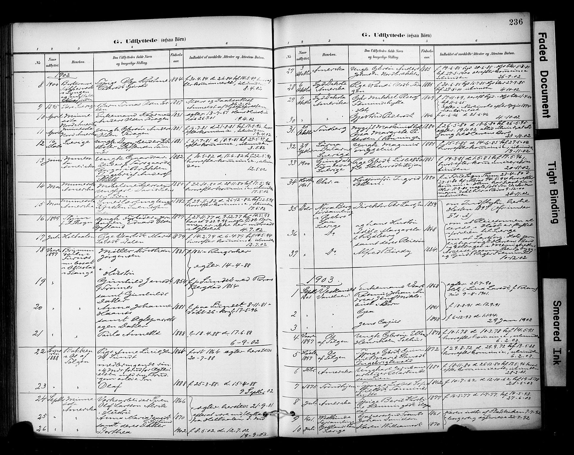 SAT, Ministerialprotokoller, klokkerbøker og fødselsregistre - Sør-Trøndelag, 681/L0936: Ministerialbok nr. 681A14, 1899-1908, s. 236