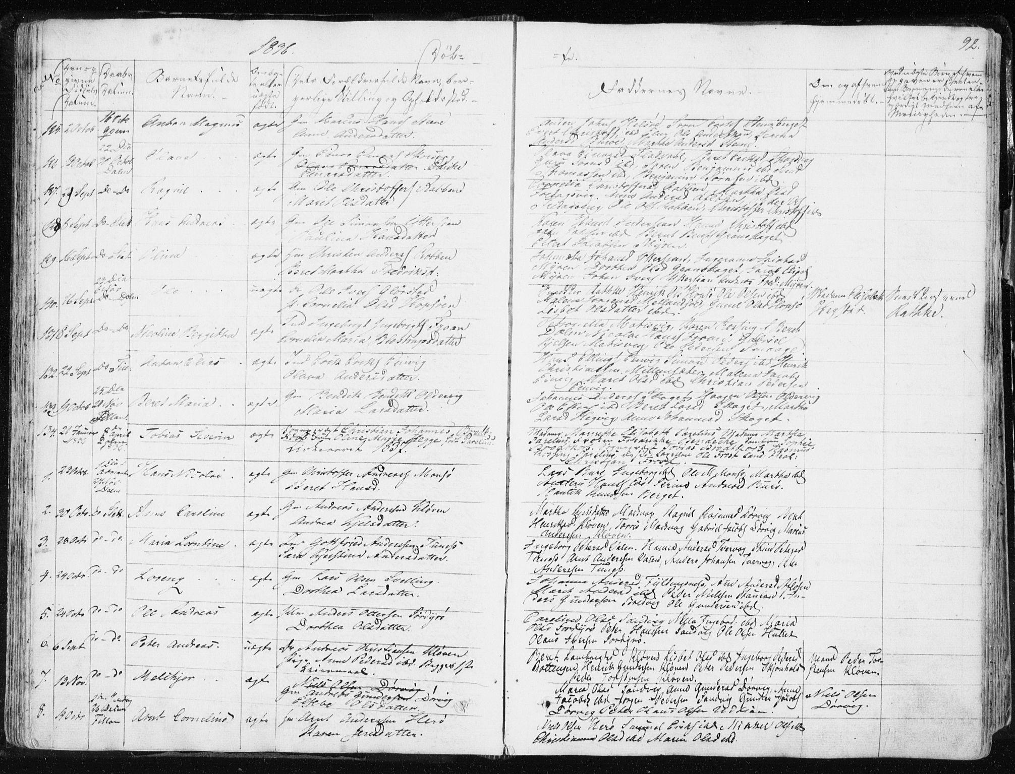 SAT, Ministerialprotokoller, klokkerbøker og fødselsregistre - Sør-Trøndelag, 634/L0528: Ministerialbok nr. 634A04, 1827-1842, s. 92