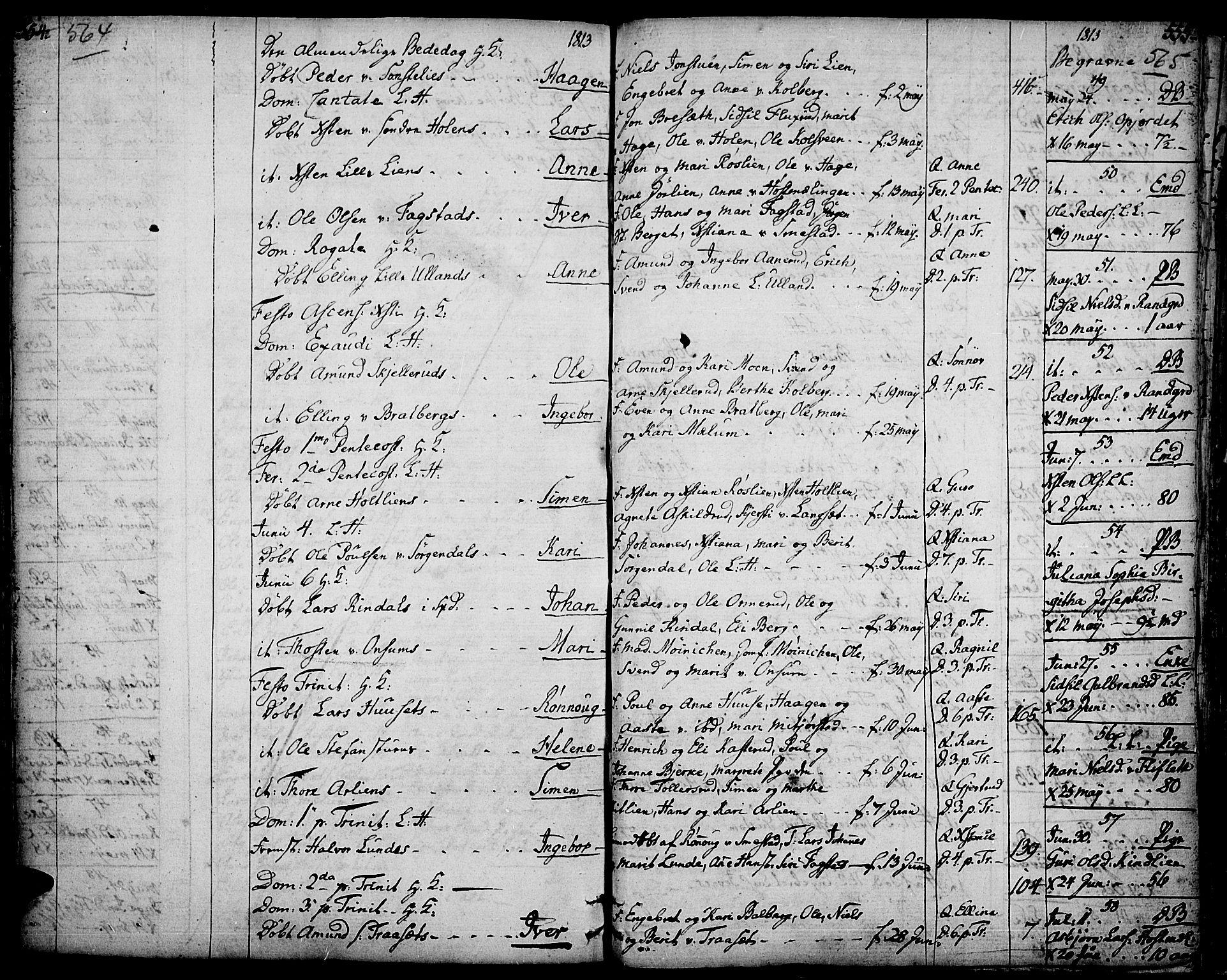 SAH, Fåberg prestekontor, Ministerialbok nr. 2, 1775-1818, s. 564-565