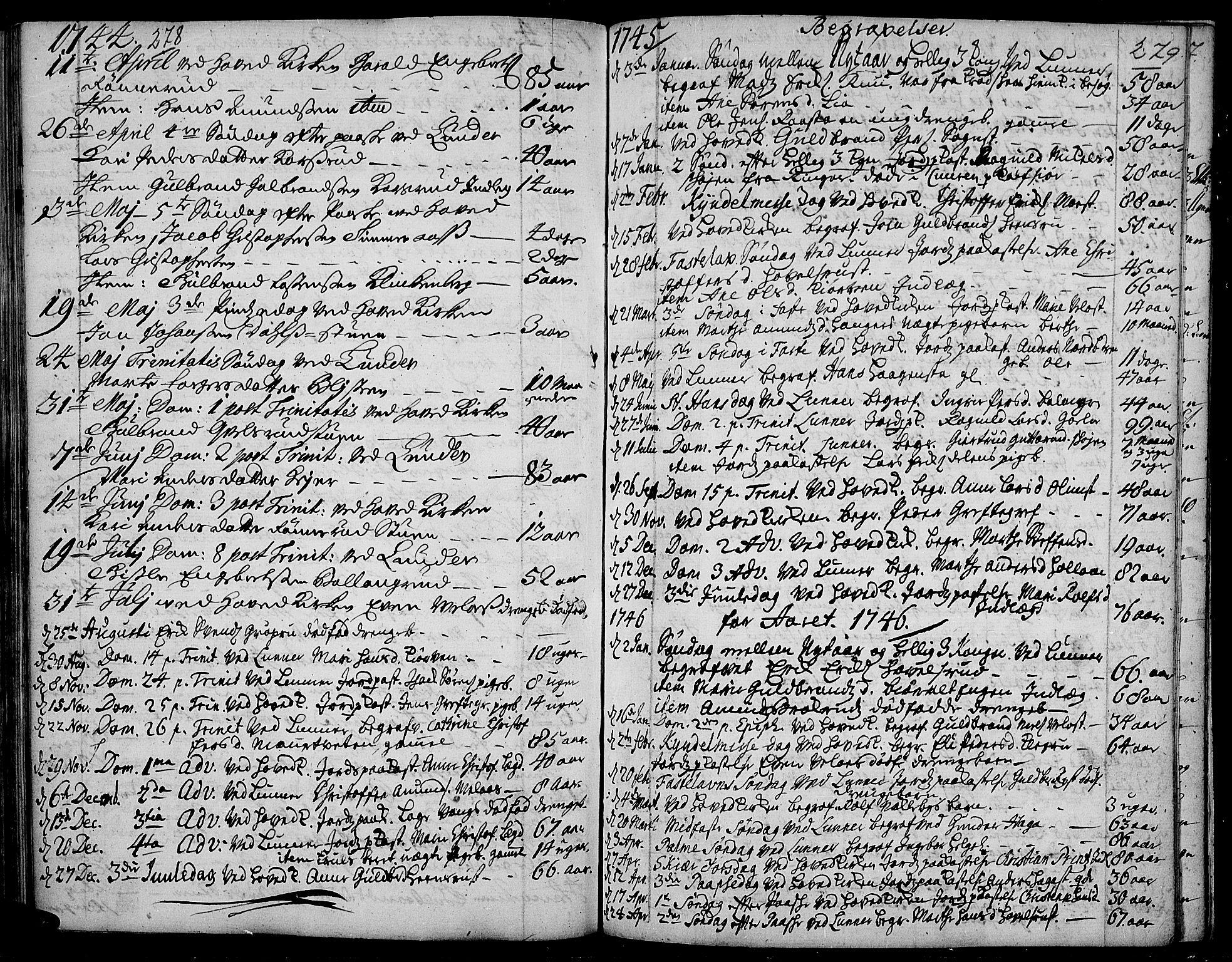 SAH, Jevnaker prestekontor, Ministerialbok nr. 2, 1725-1751, s. 278-279
