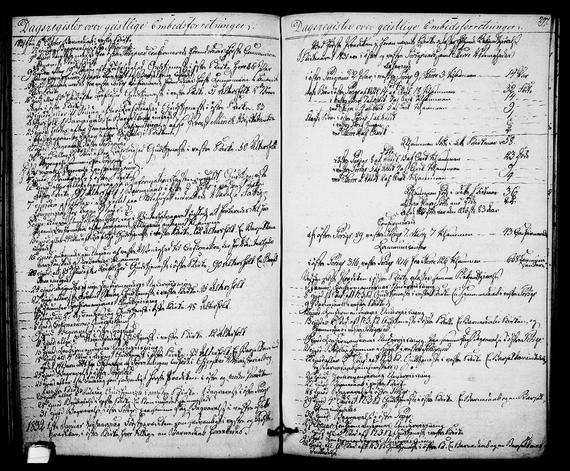 SAKO, Porsgrunn kirkebøker , F/Fa/L0005: Ministerialbok nr. 5, 1828-1840, s. 297