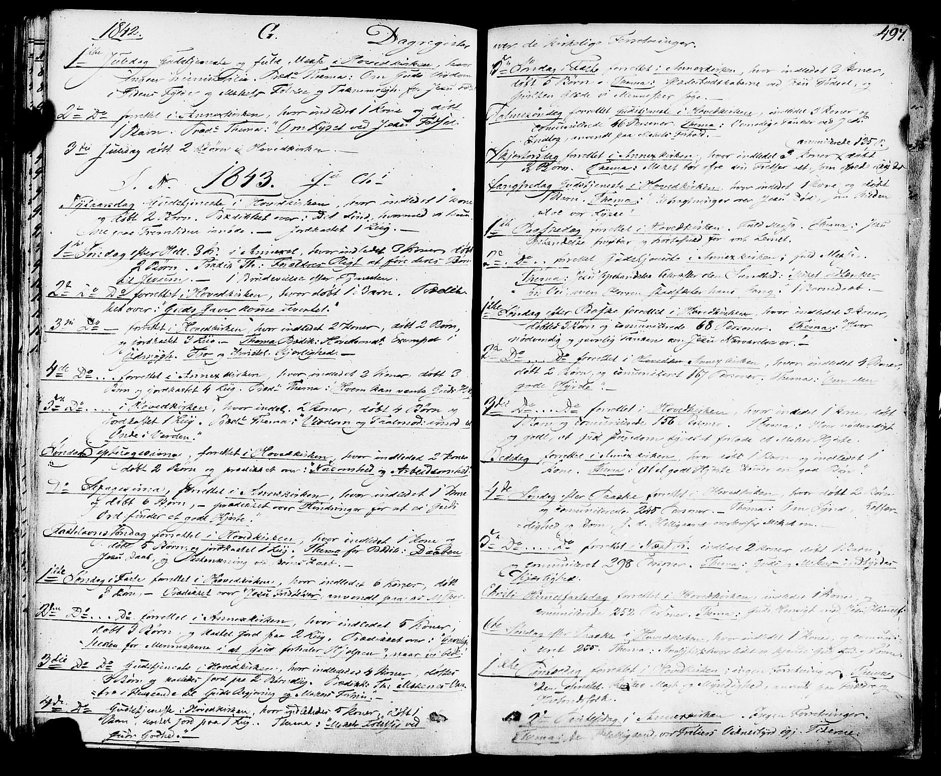 SAKO, Sauherad kirkebøker, F/Fa/L0006: Ministerialbok nr. I 6, 1827-1850, s. 497