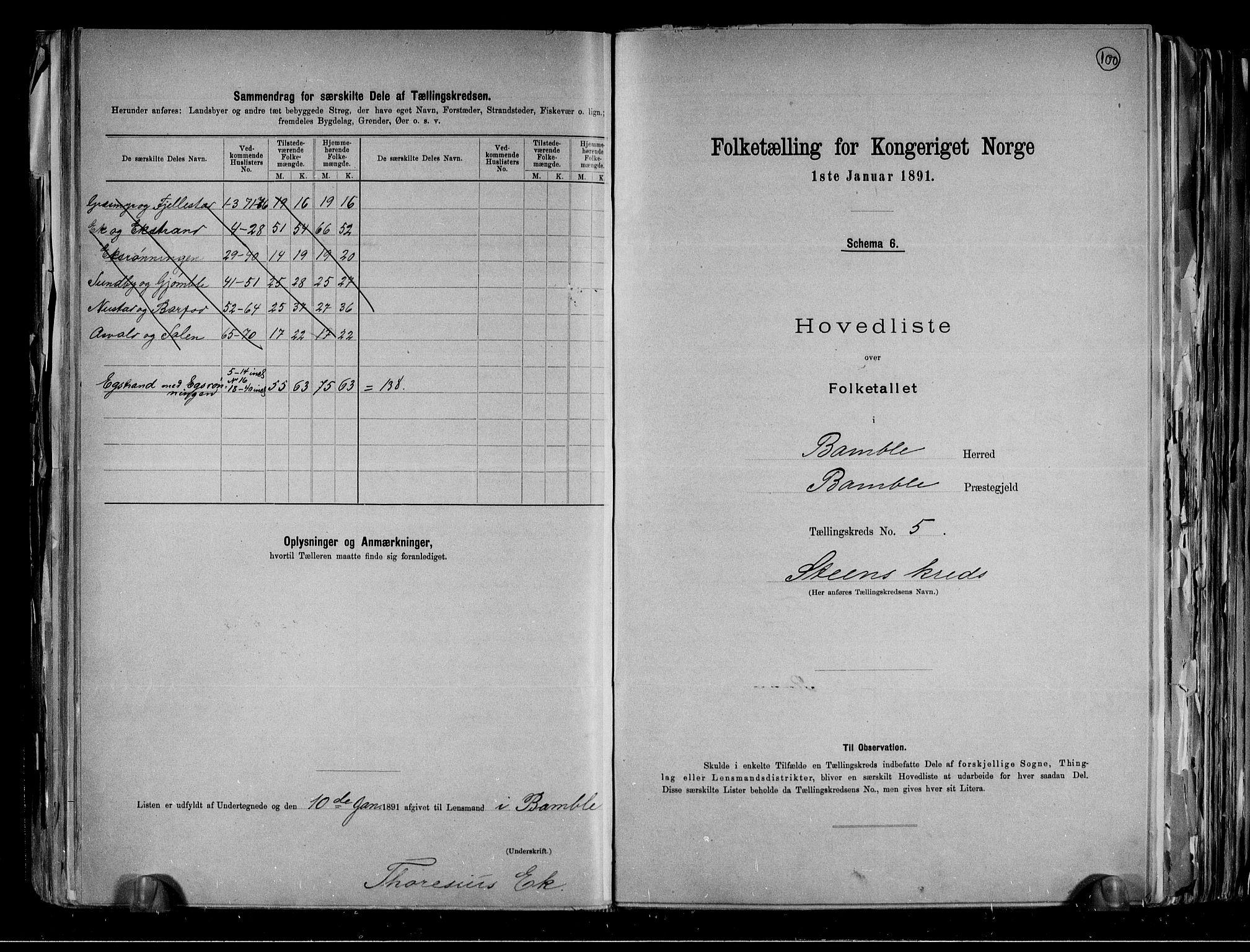 RA, Folketelling 1891 for 0814 Bamble herred, 1891, s. 16