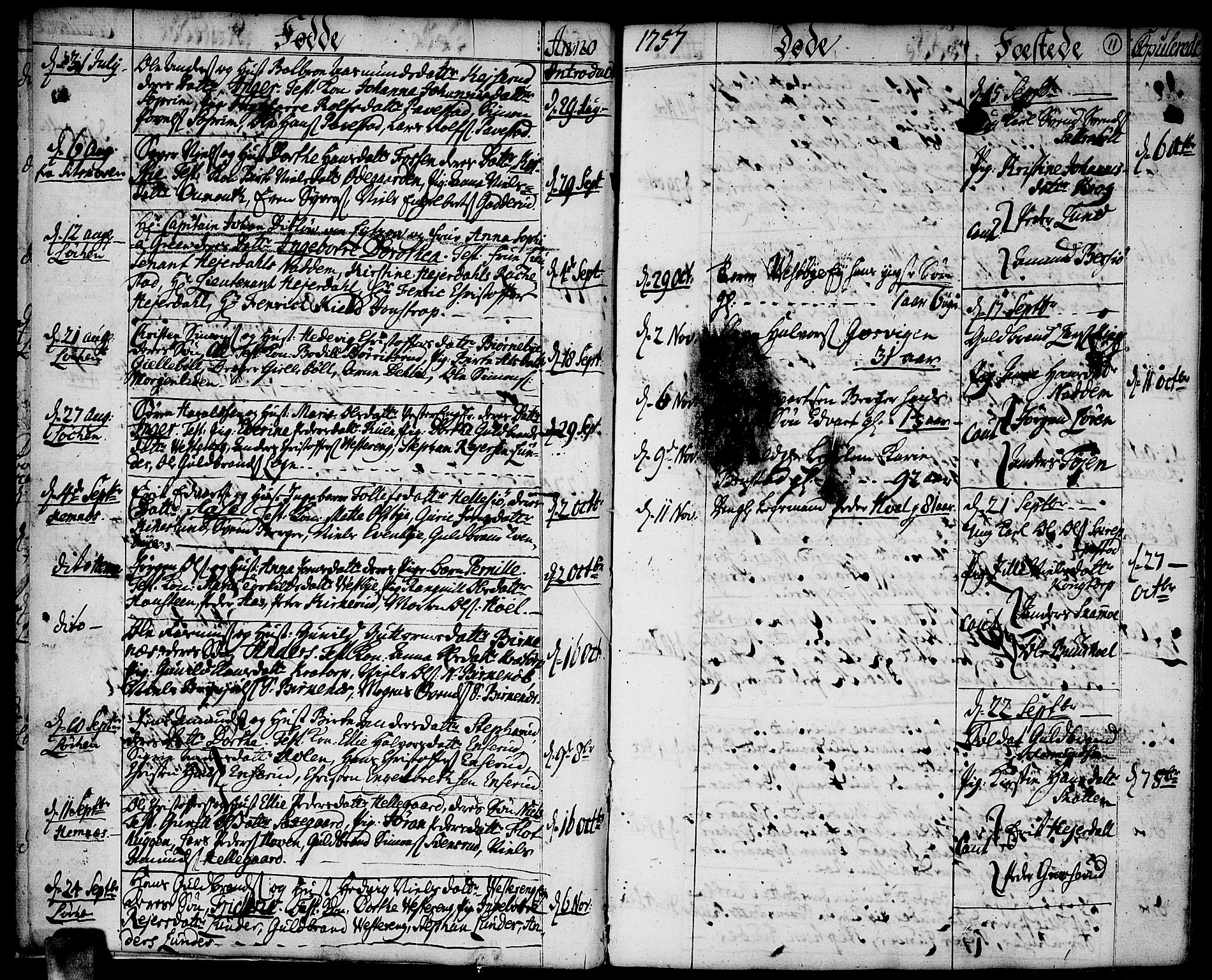 SAO, Høland prestekontor Kirkebøker, F/Fa/L0004: Ministerialbok nr. I 4, 1757-1780, s. 11