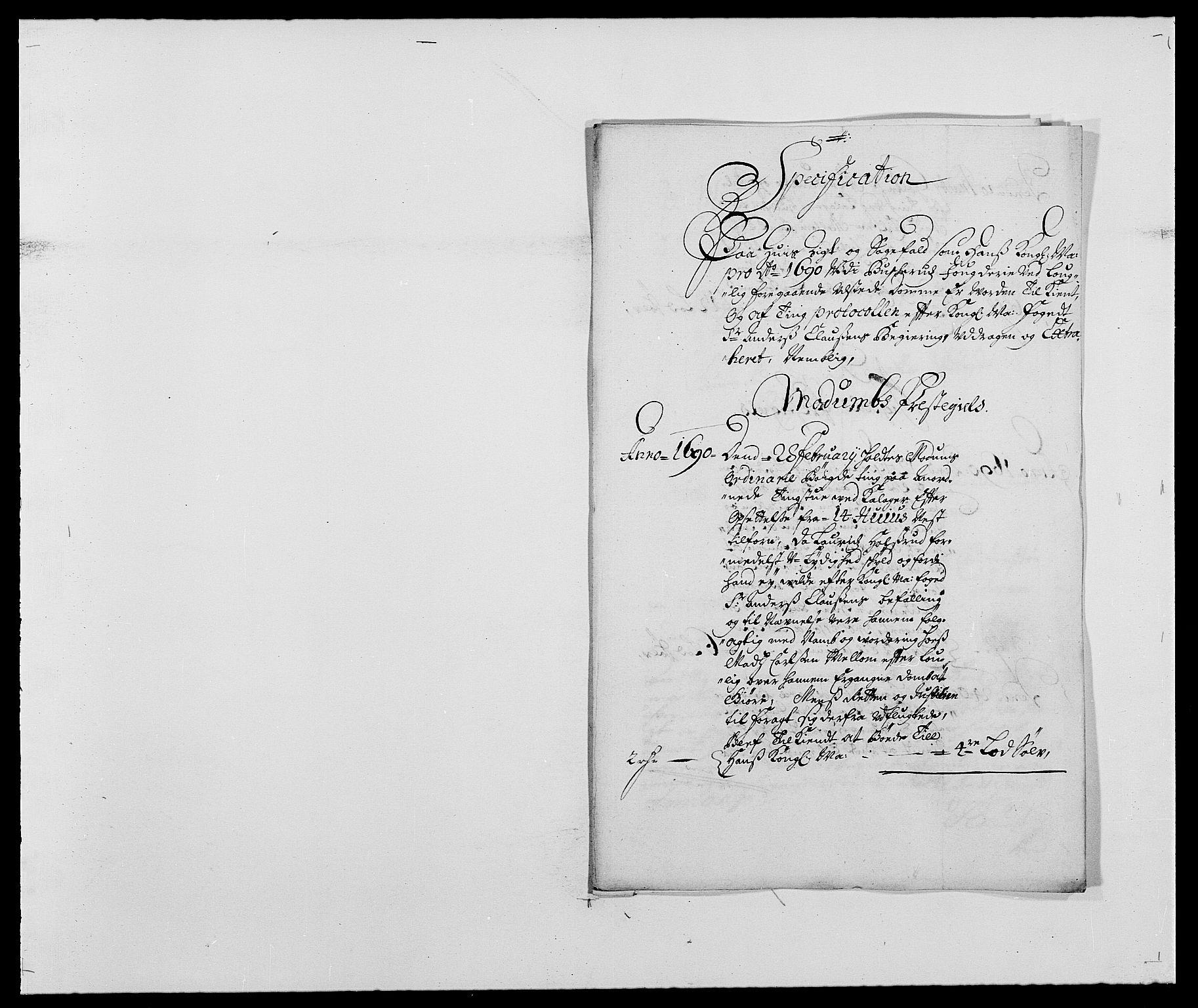 RA, Rentekammeret inntil 1814, Reviderte regnskaper, Fogderegnskap, R25/L1680: Fogderegnskap Buskerud, 1689-1690, s. 285