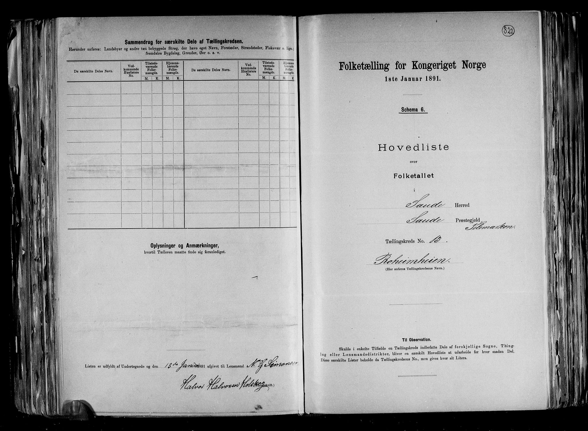 RA, Folketelling 1891 for 0822 Sauherad herred, 1891, s. 28