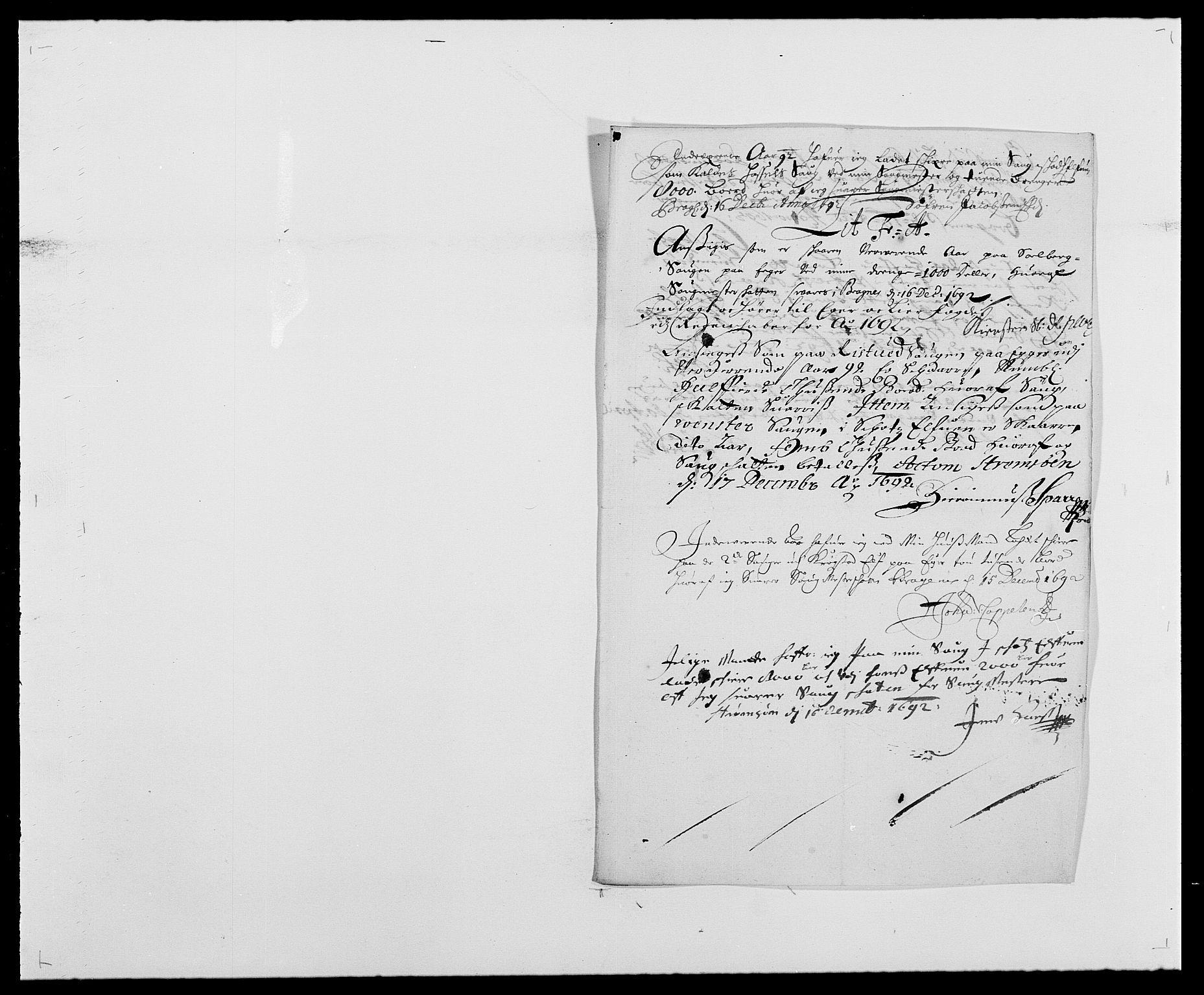 RA, Rentekammeret inntil 1814, Reviderte regnskaper, Fogderegnskap, R28/L1690: Fogderegnskap Eiker og Lier, 1692-1693, s. 65