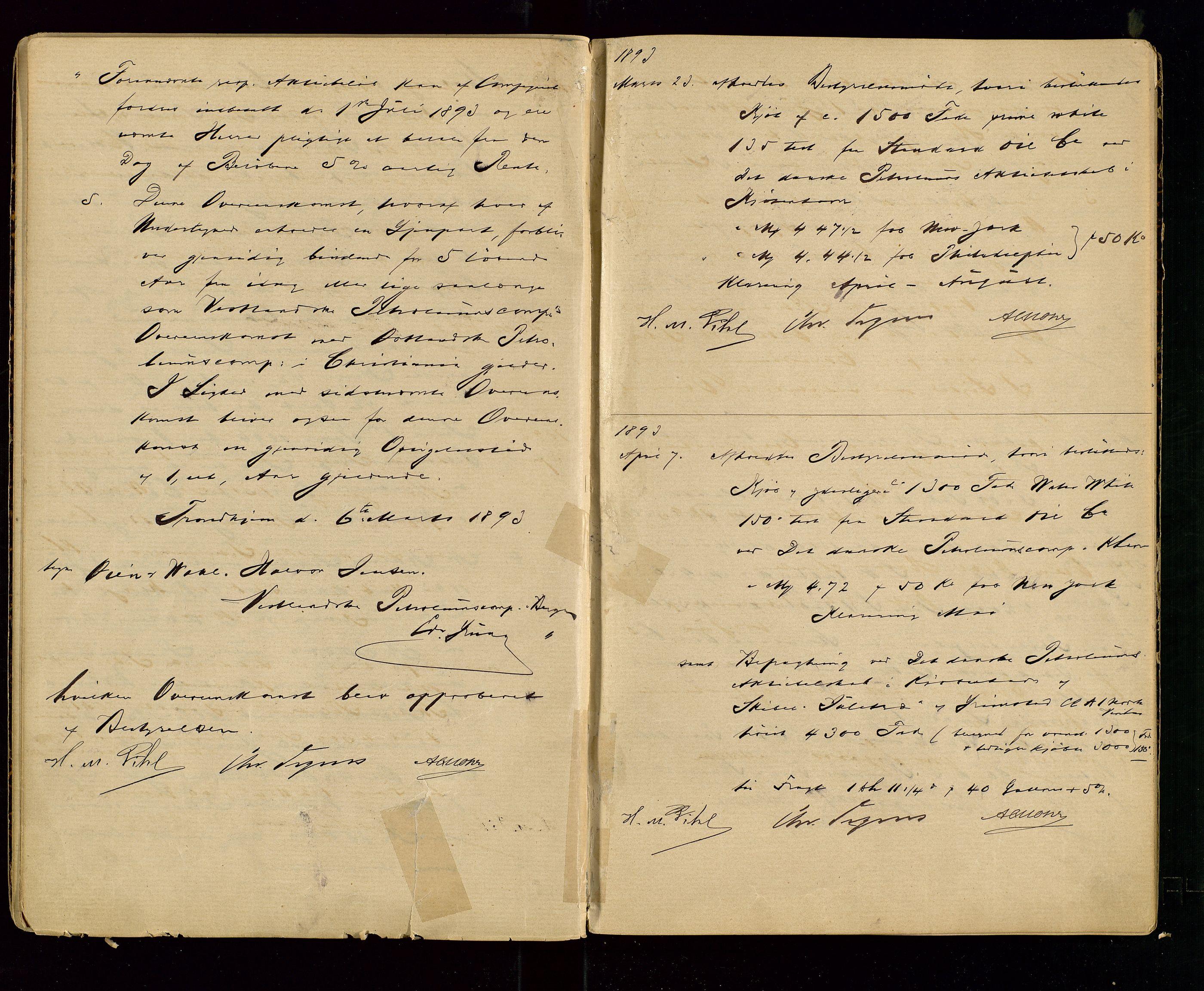 SAST, PA 1533 - A/S Vestlandske Petroleumscompani, A/Aa/L0001: Generalforsamlinger og styreprotokoller, 1890-1907, s. 13