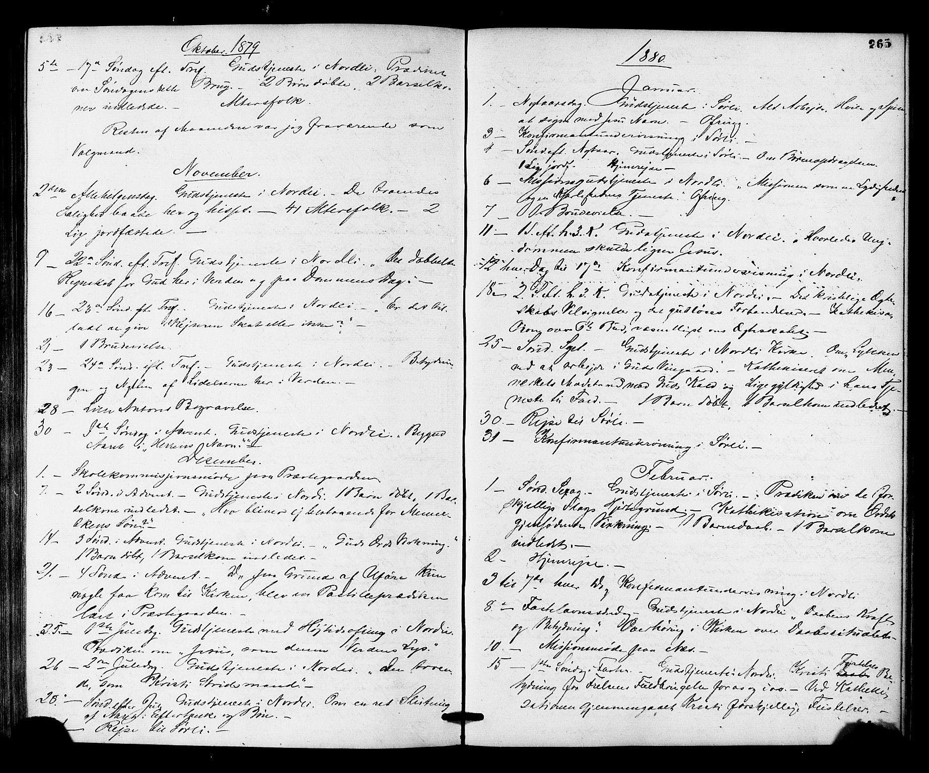SAT, Ministerialprotokoller, klokkerbøker og fødselsregistre - Nord-Trøndelag, 755/L0493: Ministerialbok nr. 755A02, 1865-1881, s. 265