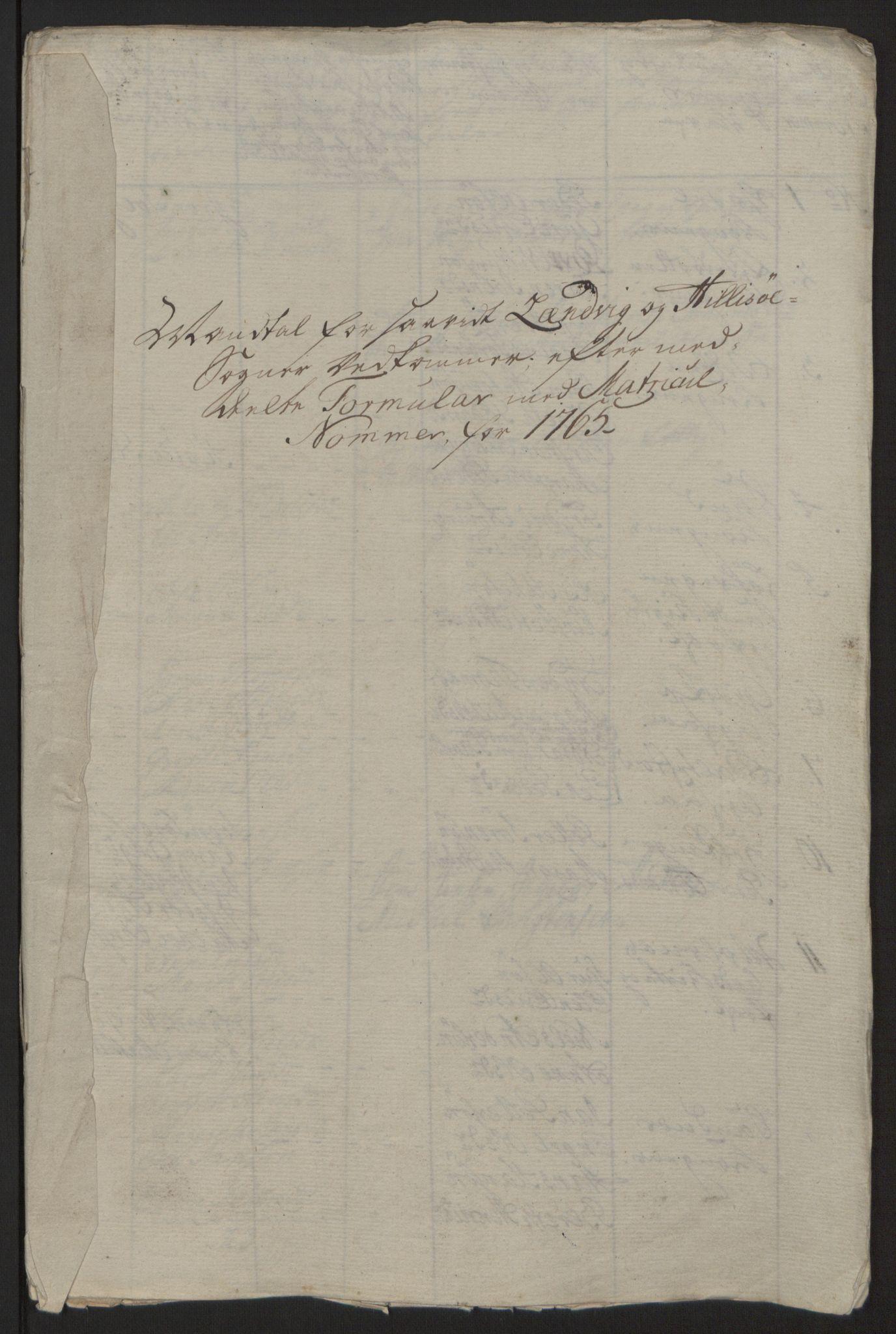 RA, Rentekammeret inntil 1814, Reviderte regnskaper, Fogderegnskap, R68/L4845: Ekstraskatten Senja og Troms, 1762-1765, s. 517