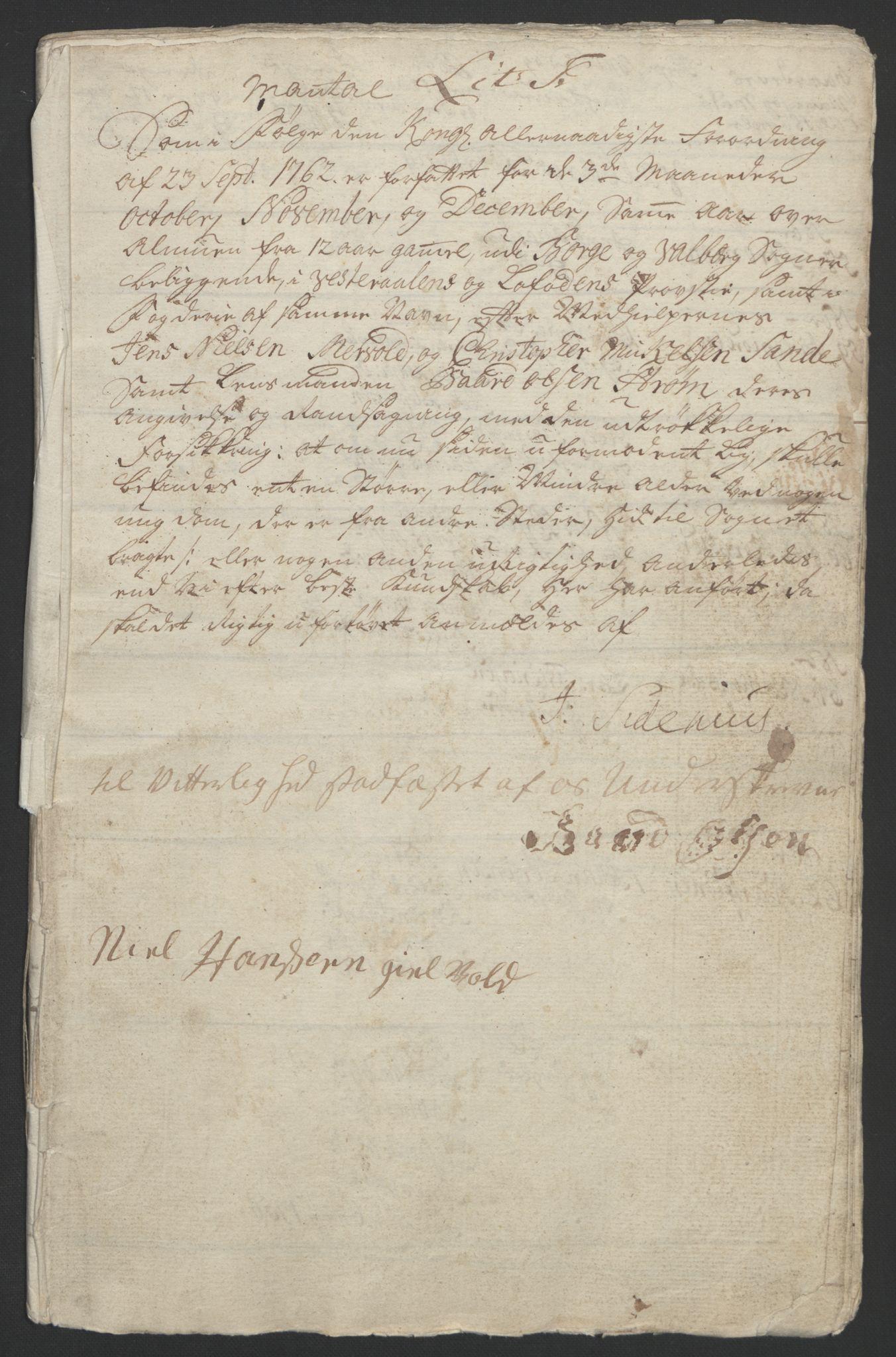 RA, Rentekammeret inntil 1814, Reviderte regnskaper, Fogderegnskap, R67/L4747: Ekstraskatten Vesterålen, Andenes og Lofoten, 1762-1766, s. 116