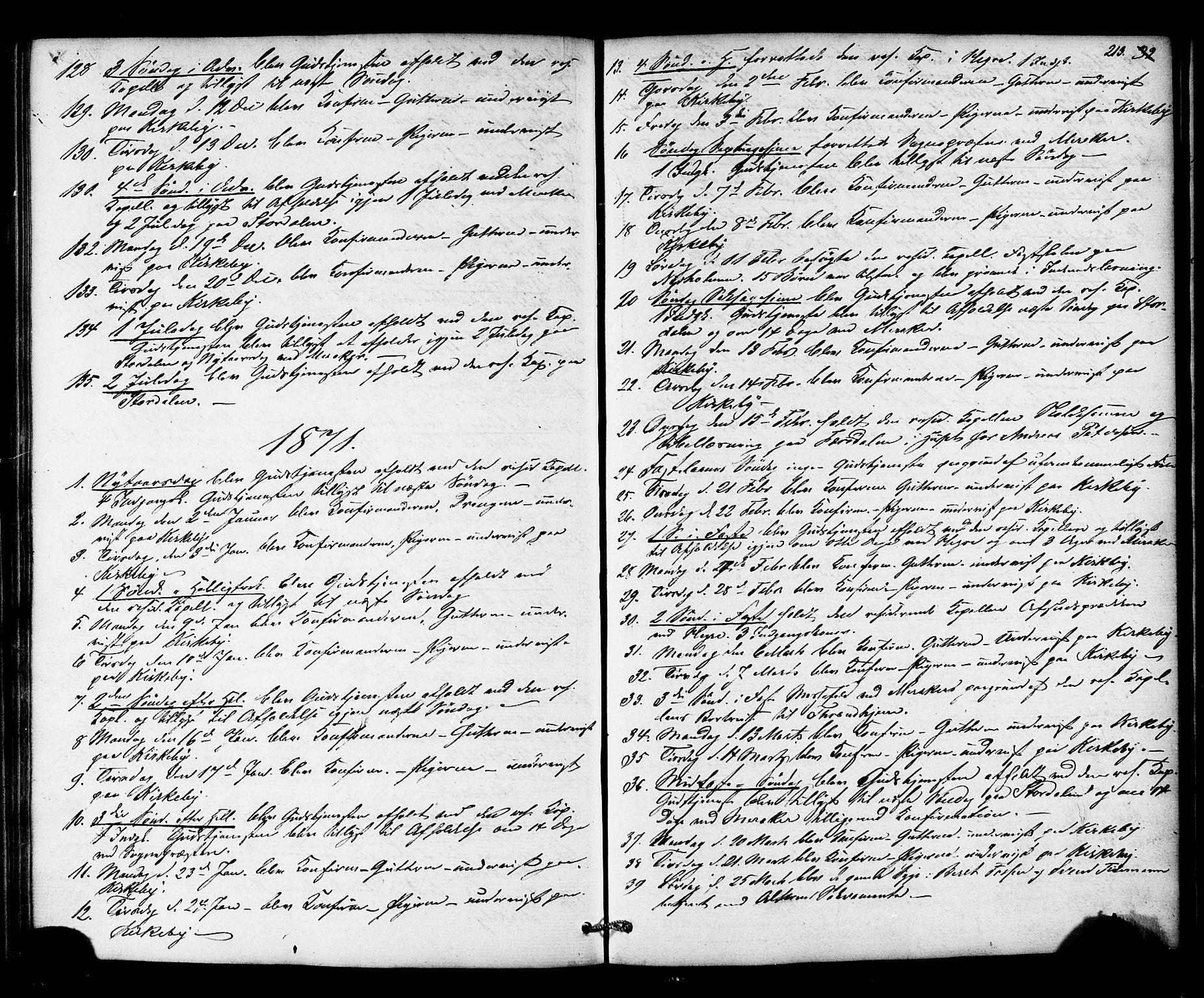 SAT, Ministerialprotokoller, klokkerbøker og fødselsregistre - Nord-Trøndelag, 706/L0041: Ministerialbok nr. 706A02, 1862-1877, s. 213