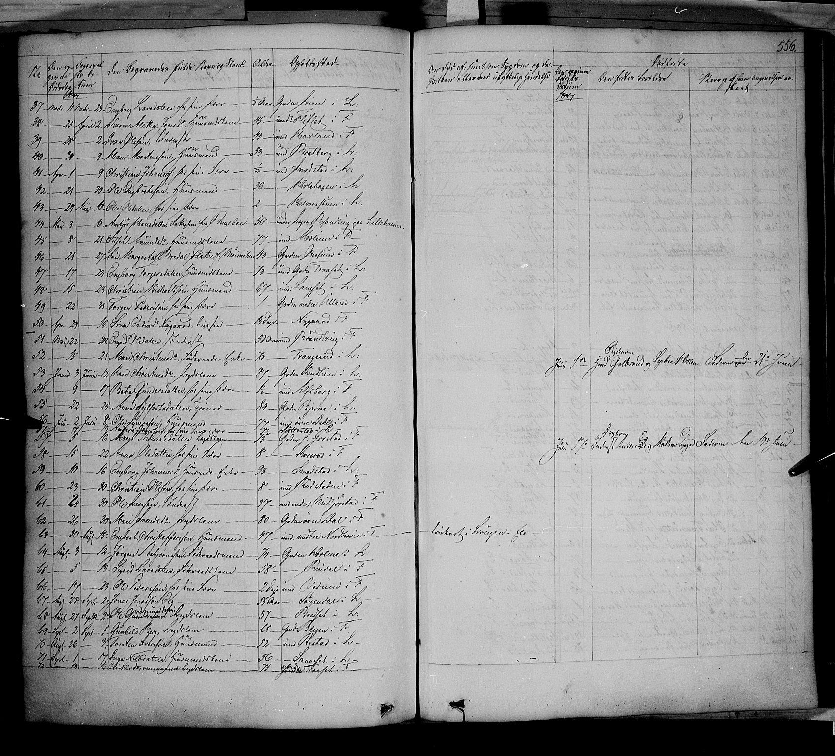 SAH, Fåberg prestekontor, Ministerialbok nr. 5, 1836-1854, s. 555-556