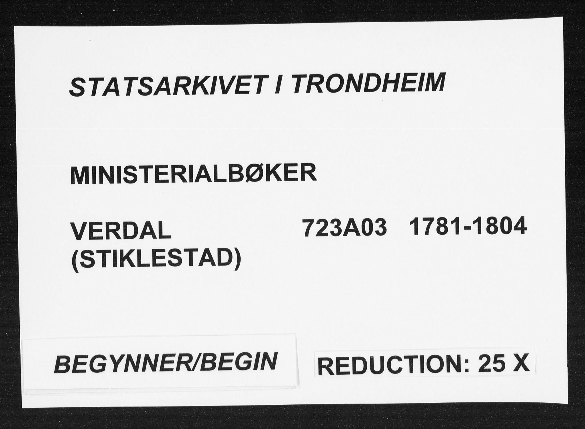 SAT, Ministerialprotokoller, klokkerbøker og fødselsregistre - Nord-Trøndelag, 723/L0232: Ministerialbok nr. 723A03, 1781-1804