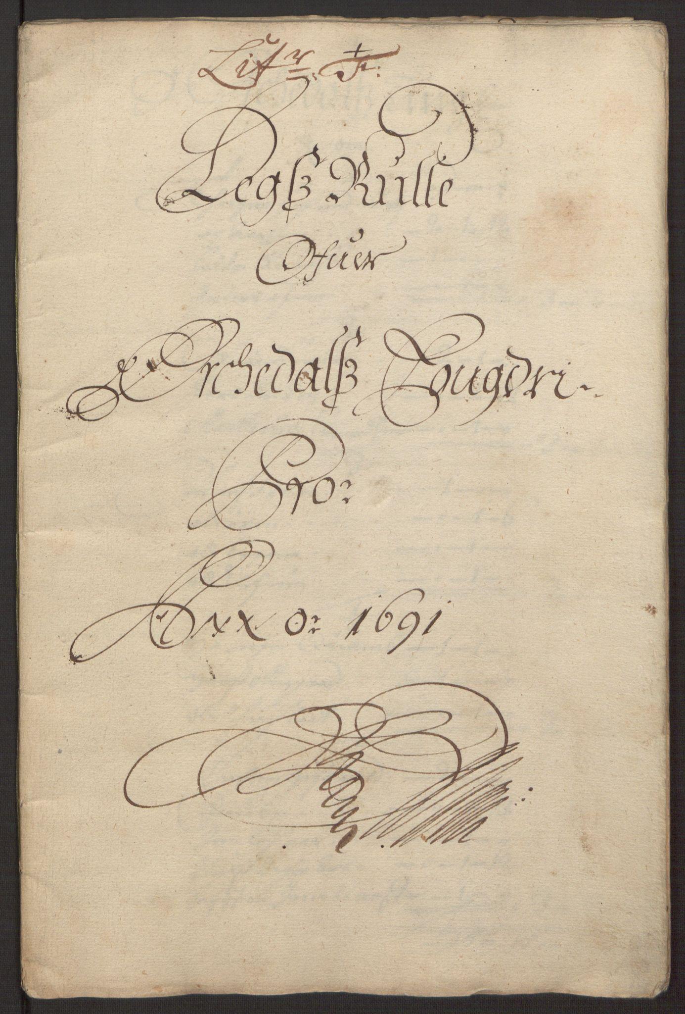RA, Rentekammeret inntil 1814, Reviderte regnskaper, Fogderegnskap, R58/L3937: Fogderegnskap Orkdal, 1691-1692, s. 58