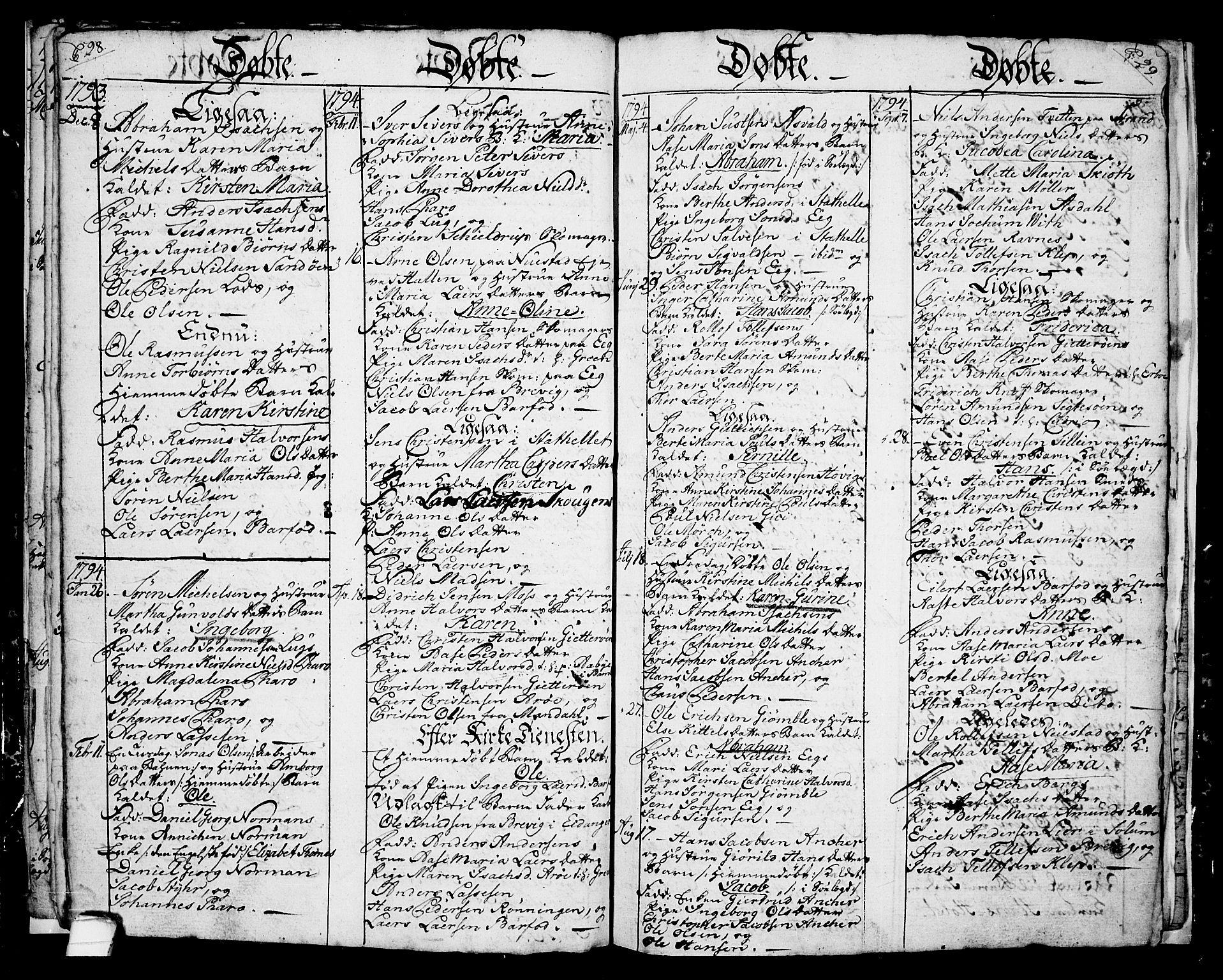 SAKO, Langesund kirkebøker, G/Ga/L0001: Klokkerbok nr. 1, 1783-1801, s. 28-29