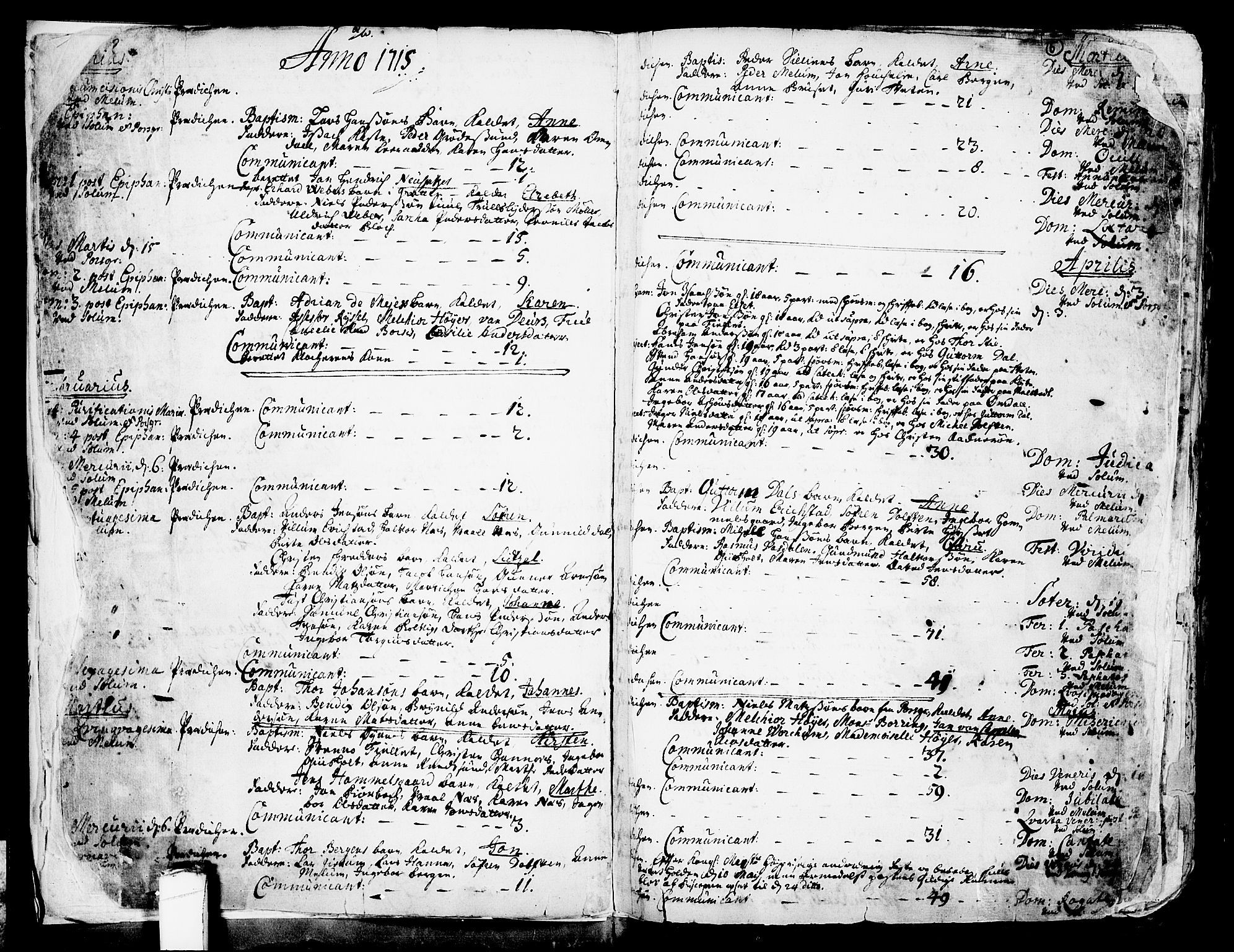SAKO, Solum kirkebøker, F/Fa/L0002: Ministerialbok nr. I 2, 1713-1761, s. 5