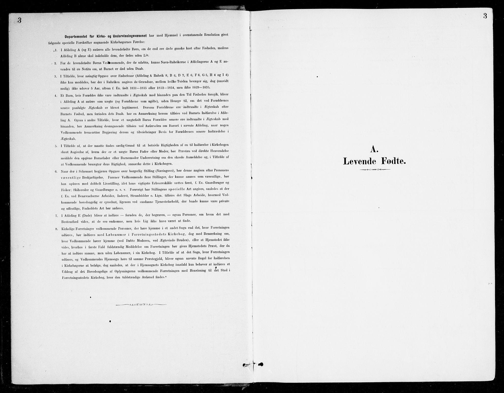 SAB, Haus sokneprestembete, H/Haa: Ministerialbok nr. D 1, 1887-1898, s. 3