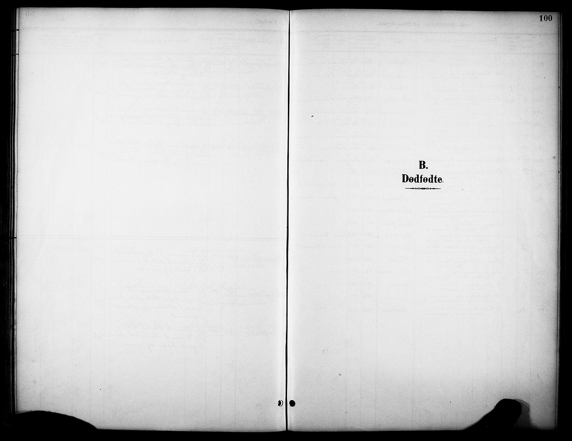 SAKO, Kviteseid kirkebøker, G/Gb/L0003: Klokkerbok nr. II 3, 1893-1933, s. 100