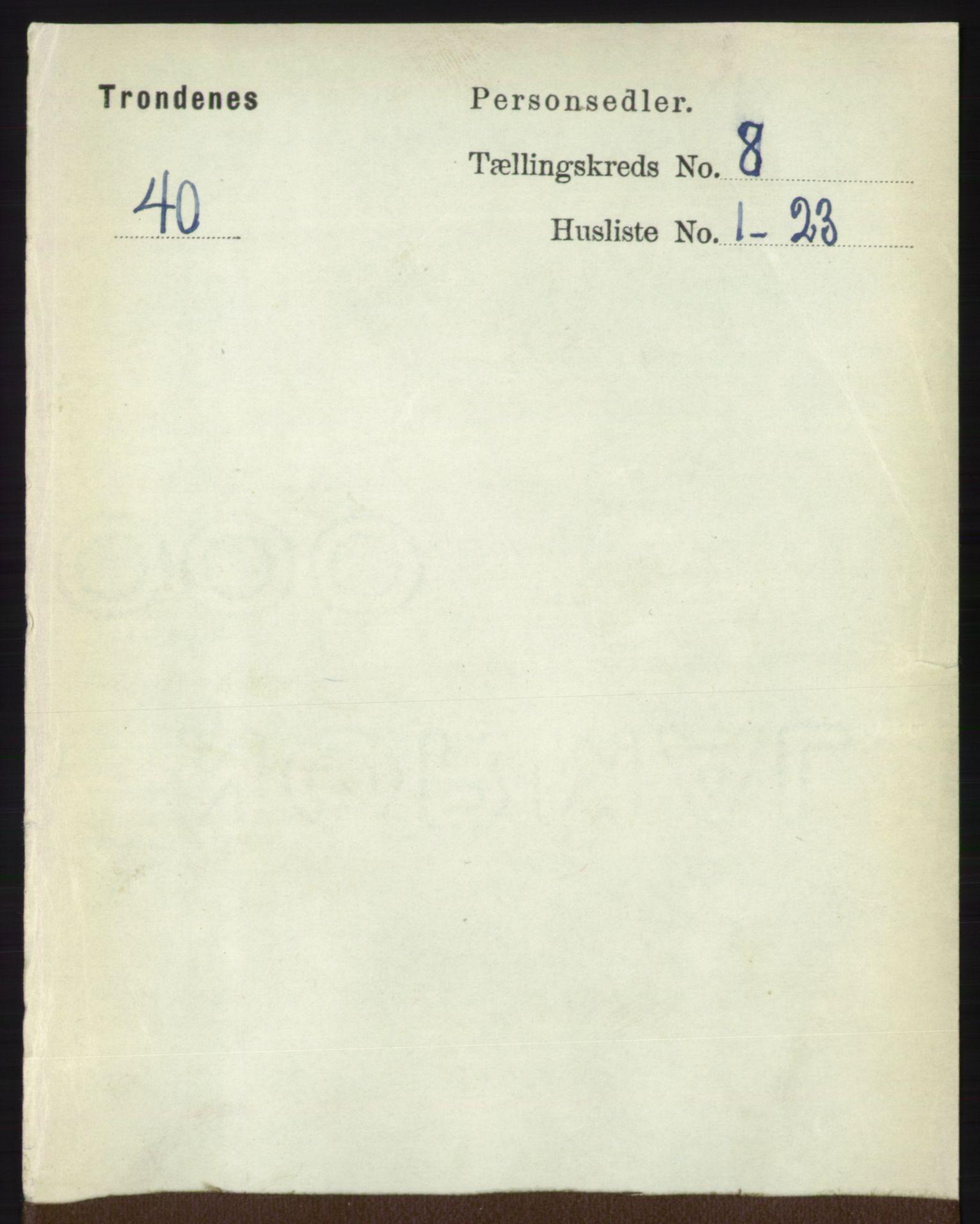 RA, Folketelling 1891 for 1914 Trondenes herred, 1891, s. 5764