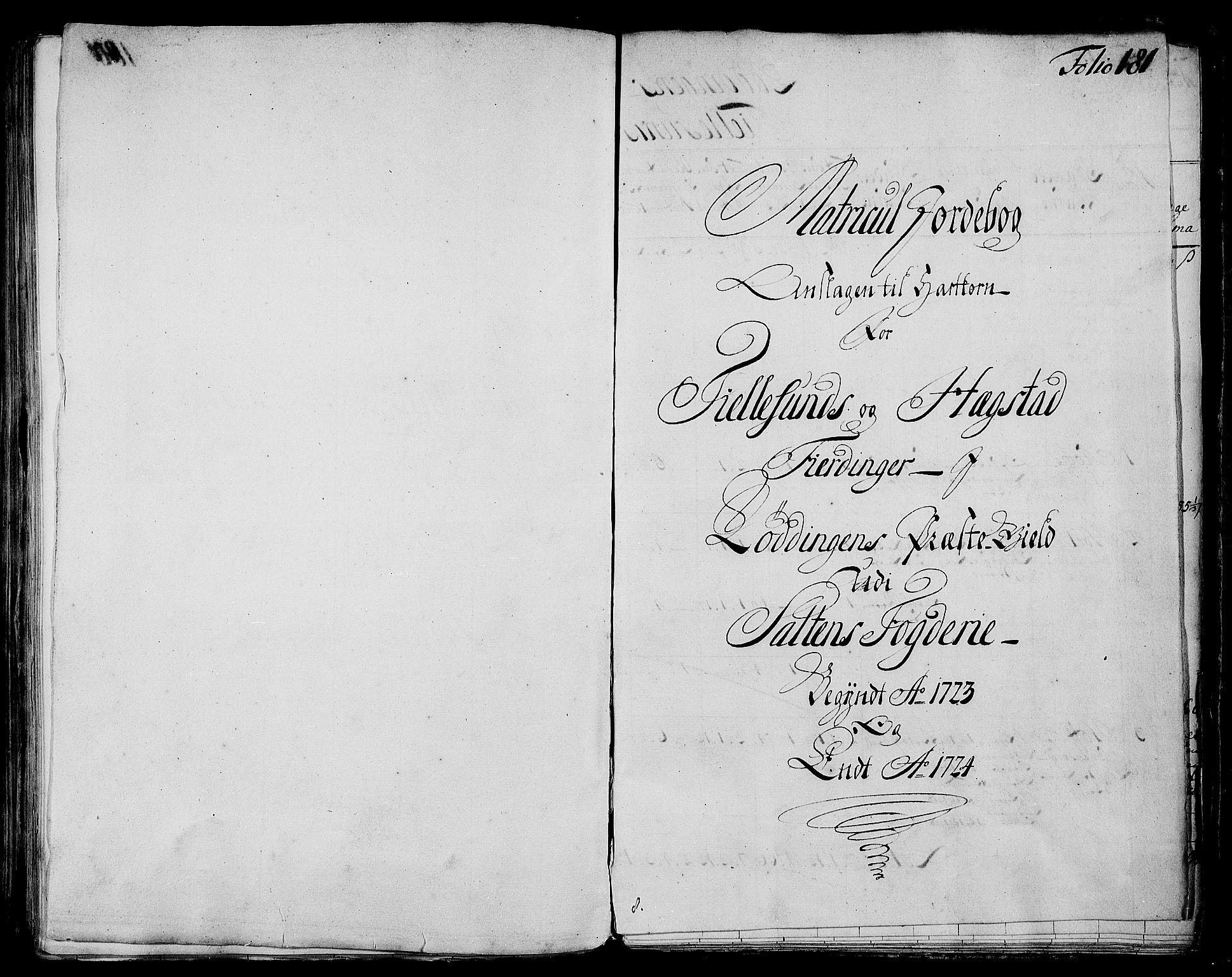 RA, Rentekammeret inntil 1814, Realistisk ordnet avdeling, N/Nb/Nbf/L0173: Salten matrikkelprotokoll, 1723, s. 180b-181a