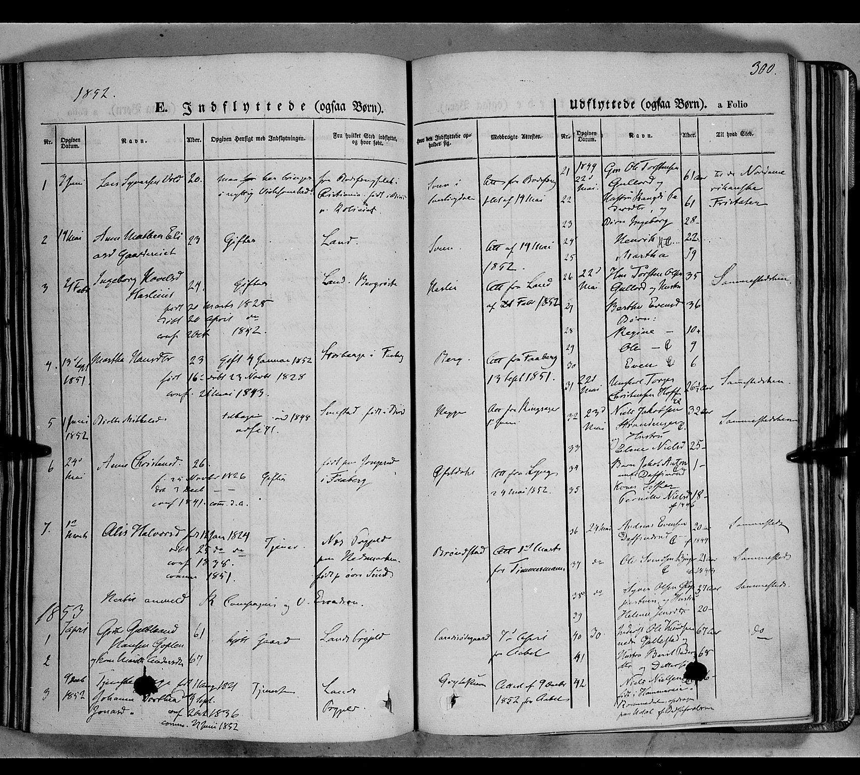 SAH, Biri prestekontor, Ministerialbok nr. 5, 1843-1854, s. 300
