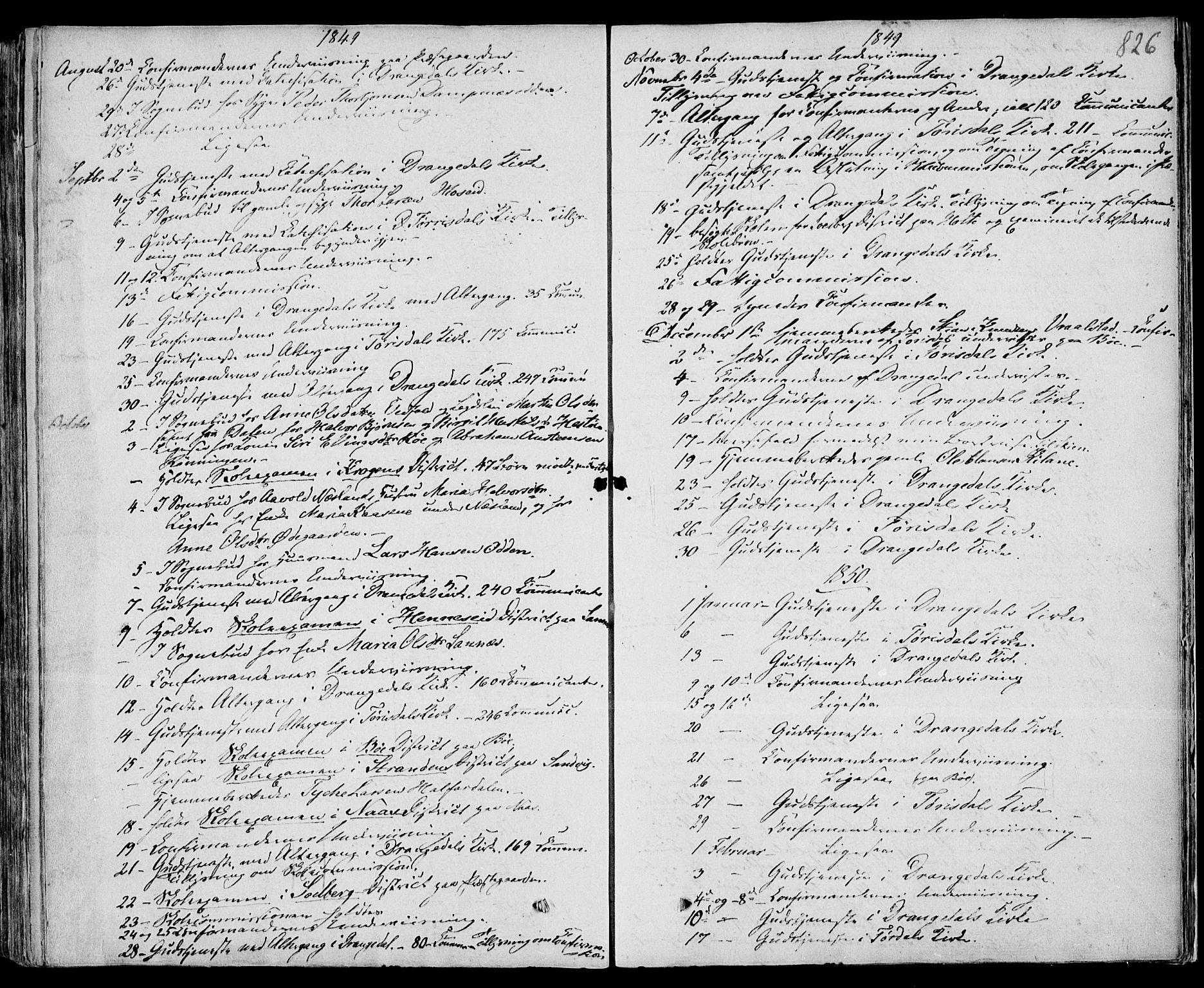 SAKO, Drangedal kirkebøker, F/Fa/L0007b: Ministerialbok nr. 7b, 1837-1856, s. 826