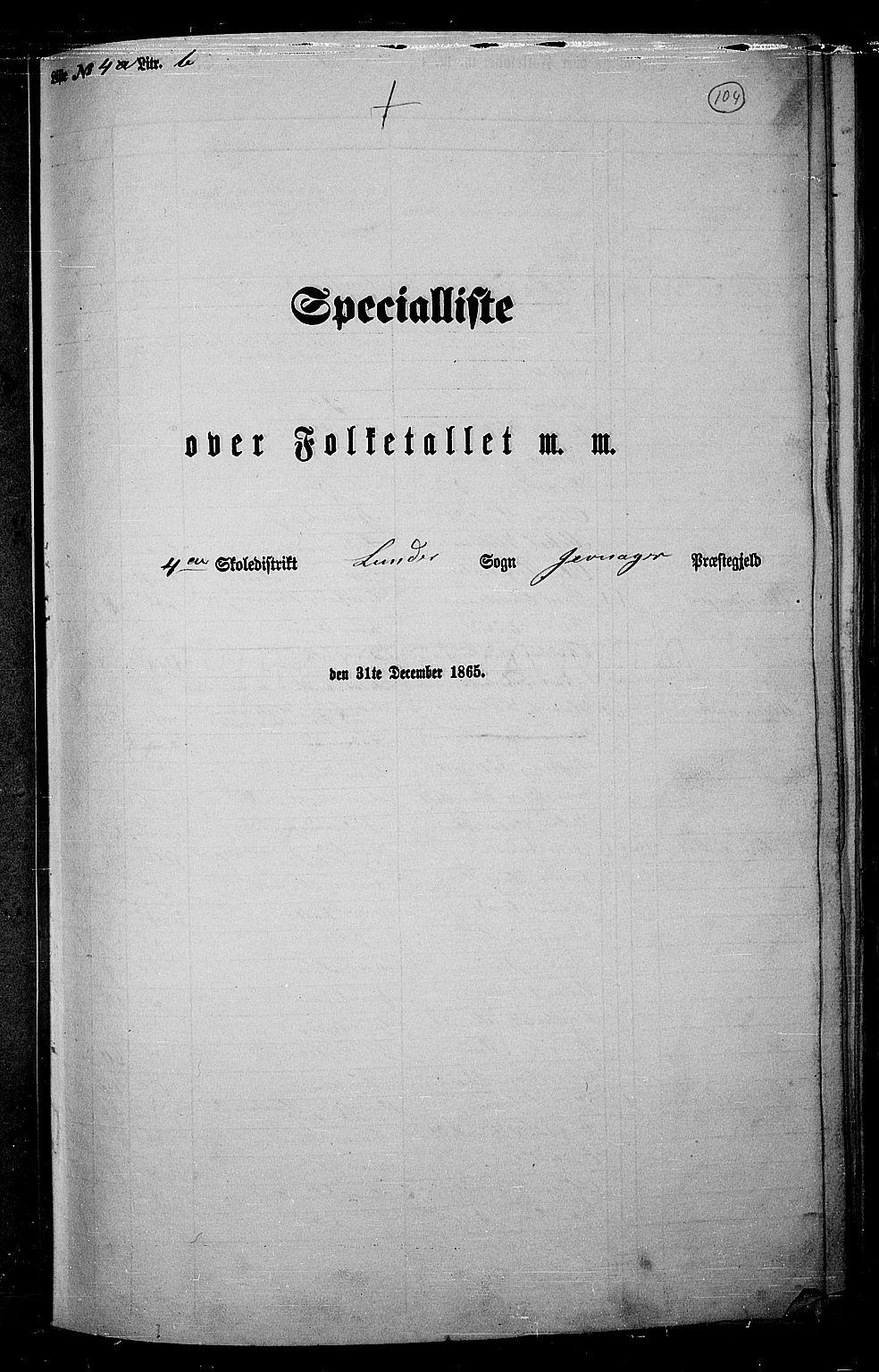 RA, Folketelling 1865 for 0532P Jevnaker prestegjeld, 1865, s. 102