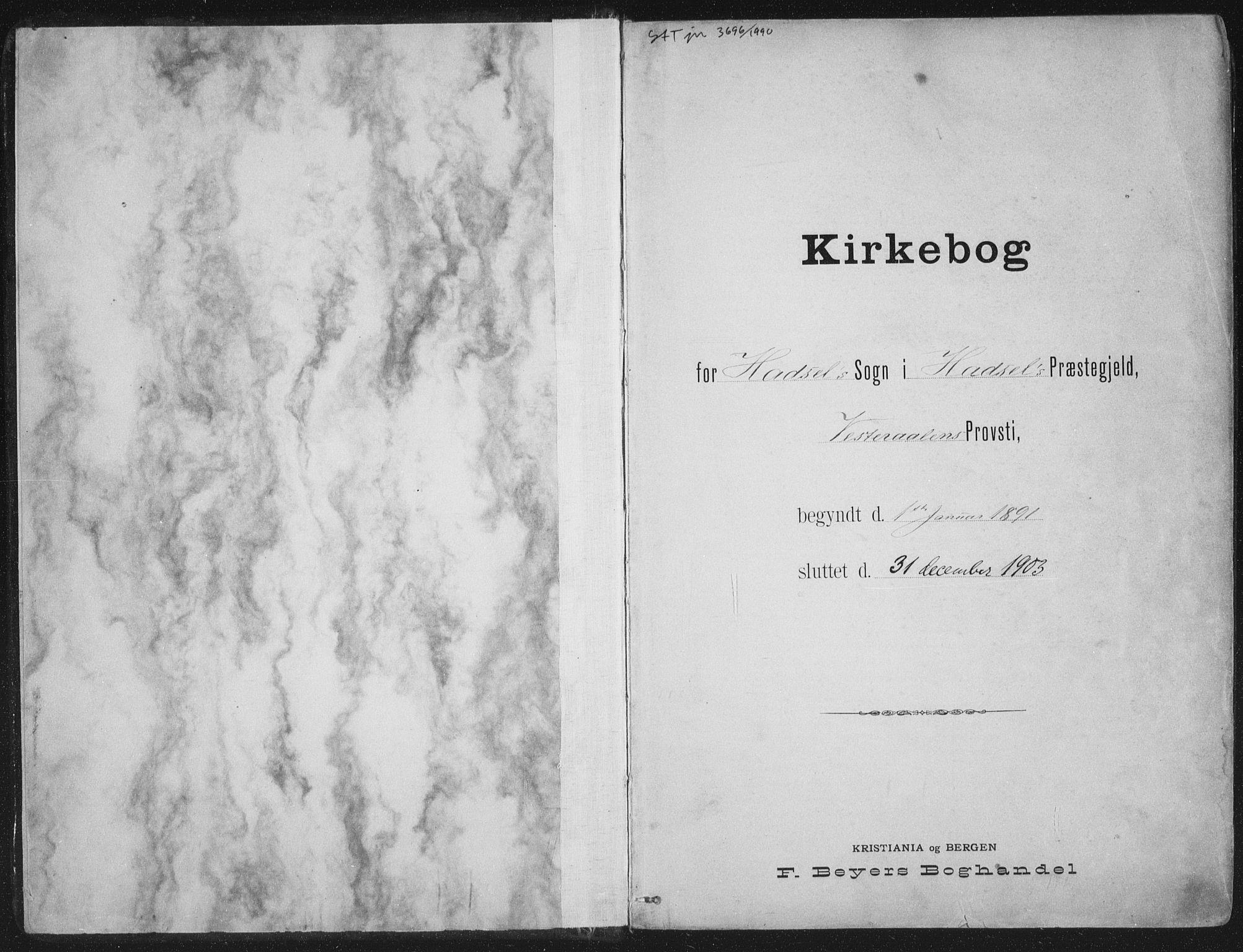 SAT, Ministerialprotokoller, klokkerbøker og fødselsregistre - Nordland, 888/L1246: Ministerialbok nr. 888A12, 1891-1903