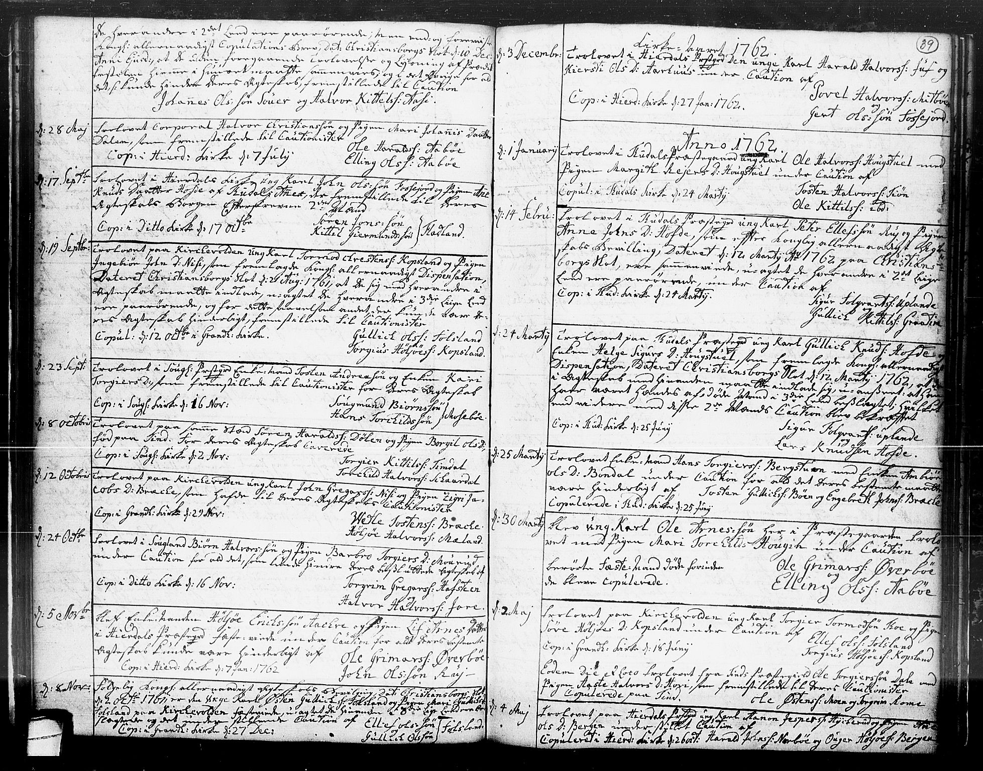SAKO, Hjartdal kirkebøker, F/Fa/L0004: Ministerialbok nr. I 4, 1727-1795, s. 39