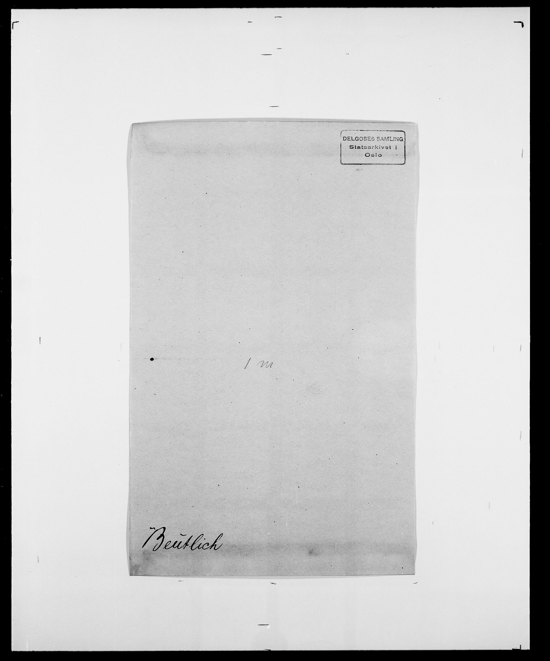 SAO, Delgobe, Charles Antoine - samling, D/Da/L0004: Bergendahl - Blære, s. 149