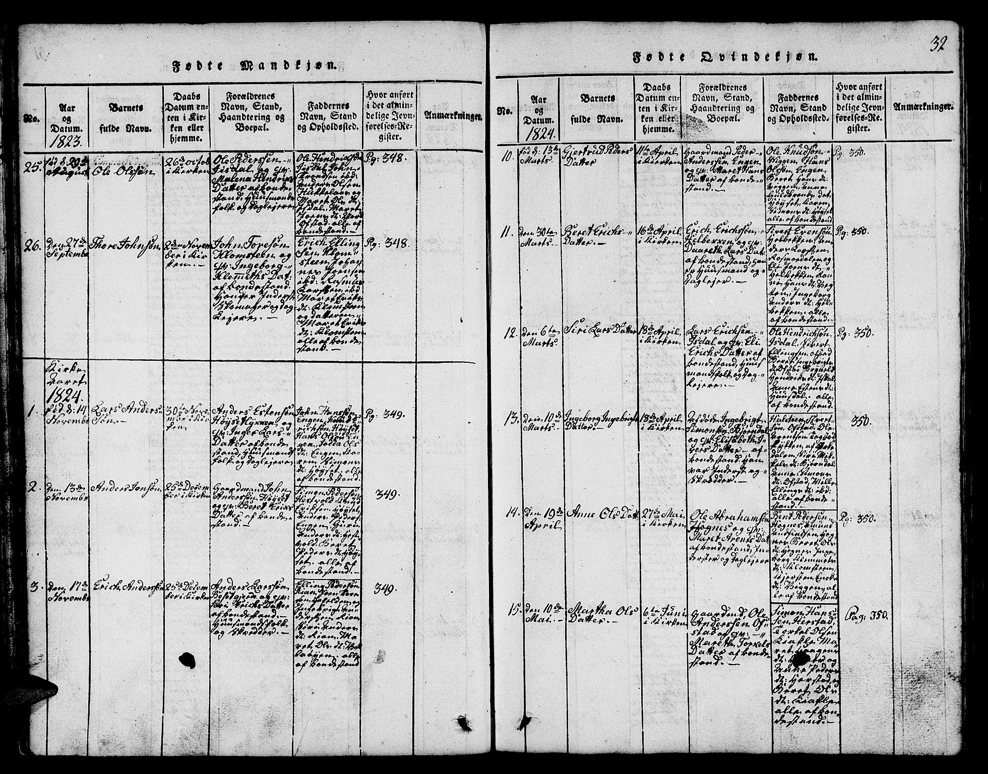 SAT, Ministerialprotokoller, klokkerbøker og fødselsregistre - Sør-Trøndelag, 665/L0776: Klokkerbok nr. 665C01, 1817-1837, s. 32