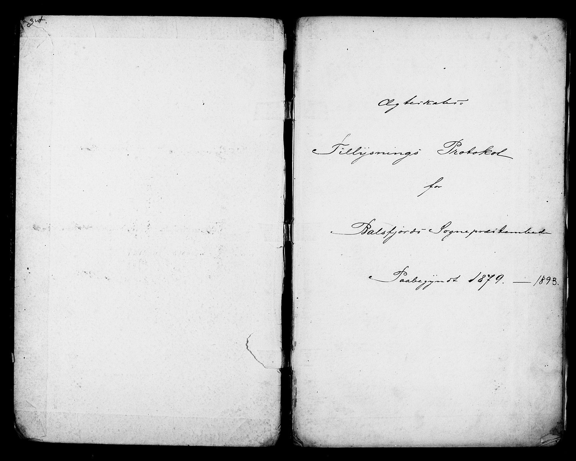 SATØ, Balsfjord sokneprestembete, Lysningsprotokoll nr. 29, 1879-1893