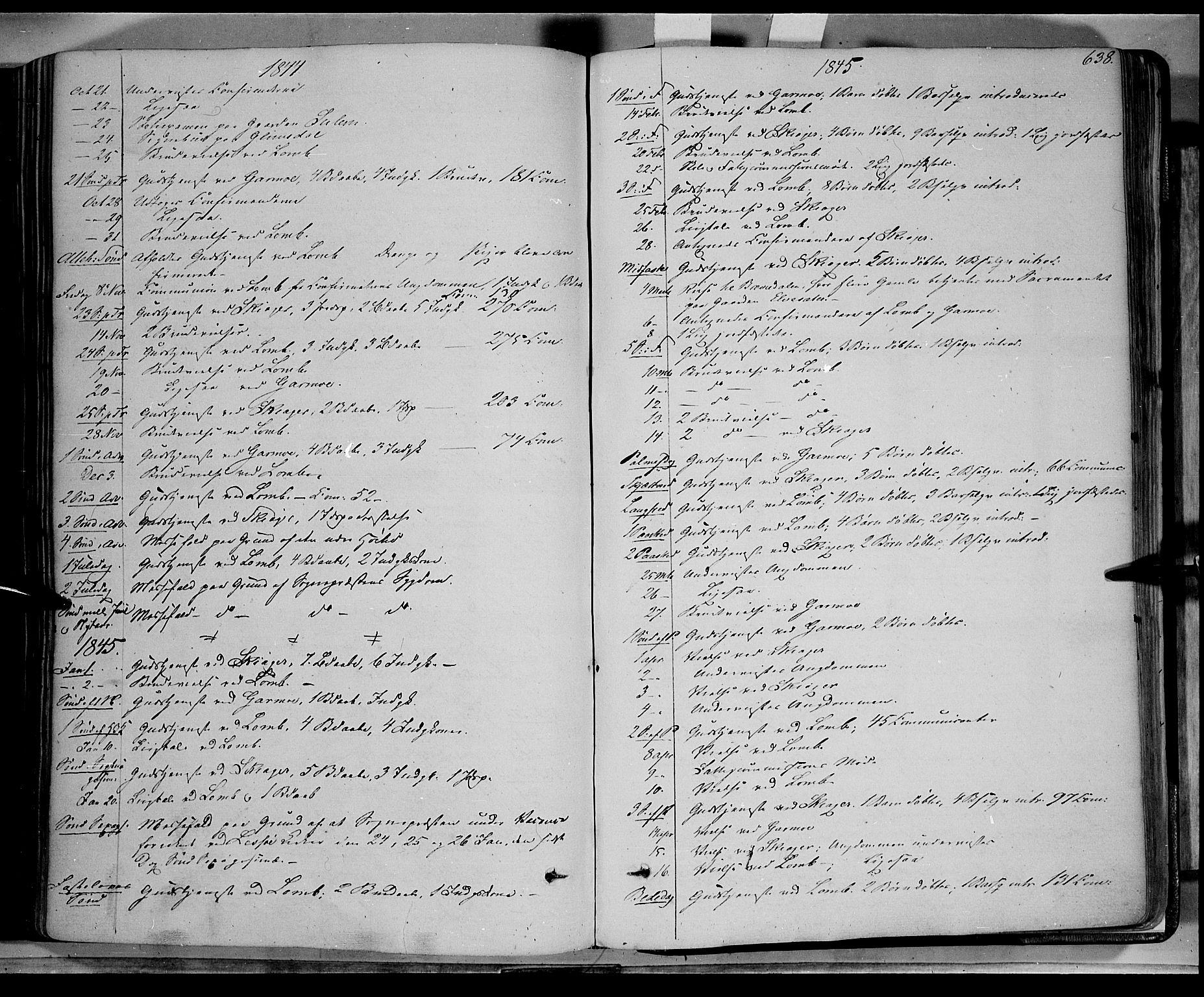 SAH, Lom prestekontor, K/L0006: Ministerialbok nr. 6B, 1837-1863, s. 638