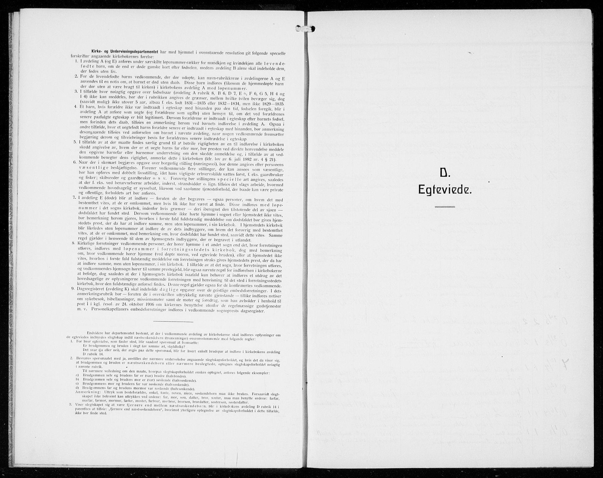 SAB, Odda Sokneprestembete, H/Hab: Klokkerbok nr. D 2, 1915-1940