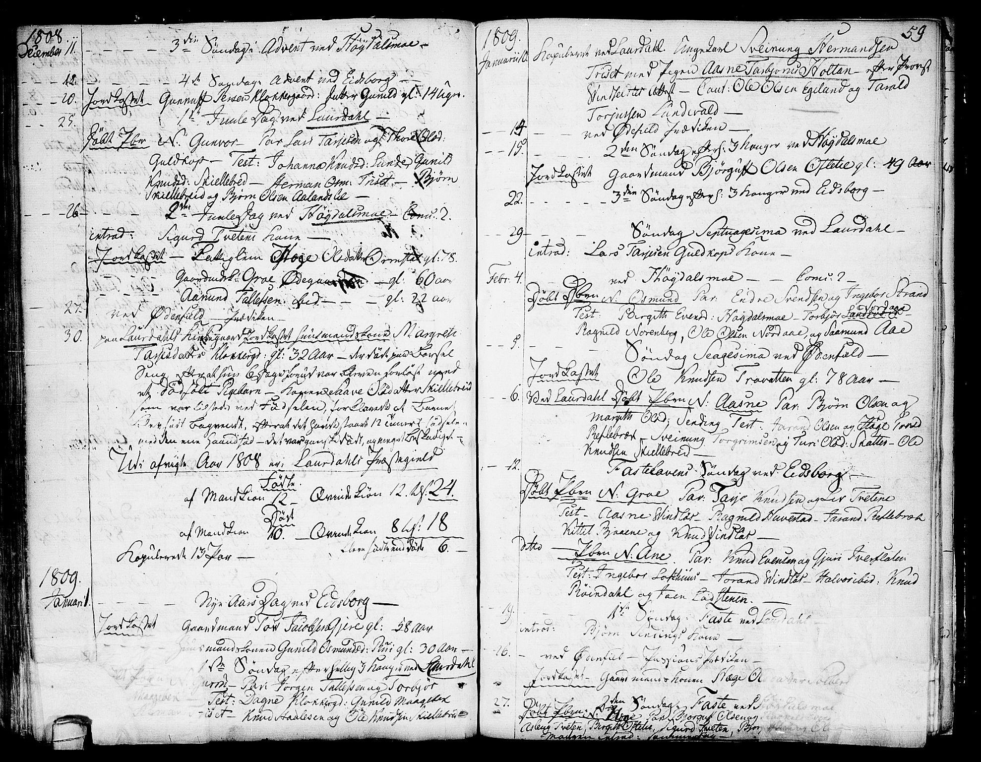 SAKO, Lårdal kirkebøker, F/Fa/L0004: Ministerialbok nr. I 4, 1790-1814, s. 59