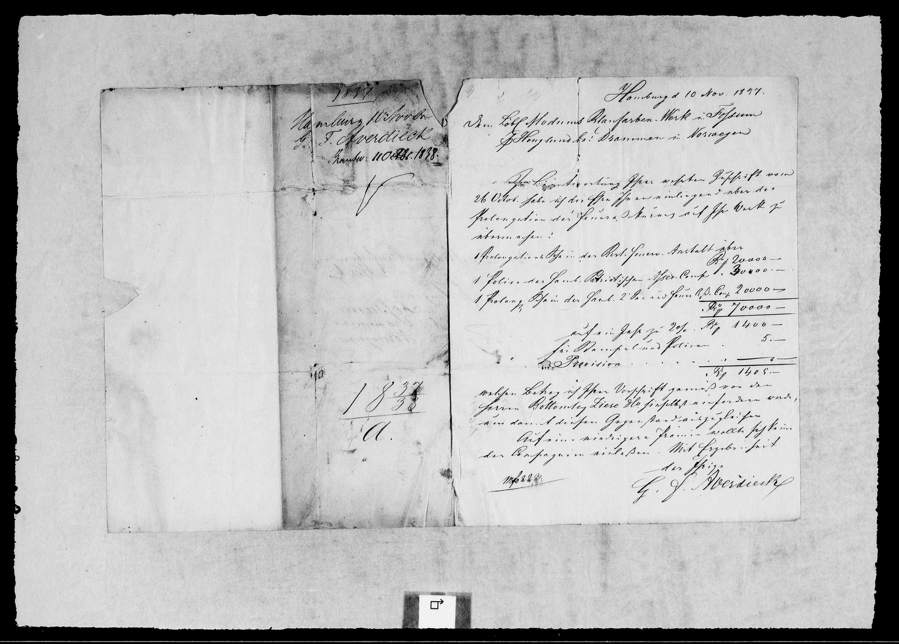 RA, Modums Blaafarveværk, G/Gb/L0119, 1837-1838, s. 2