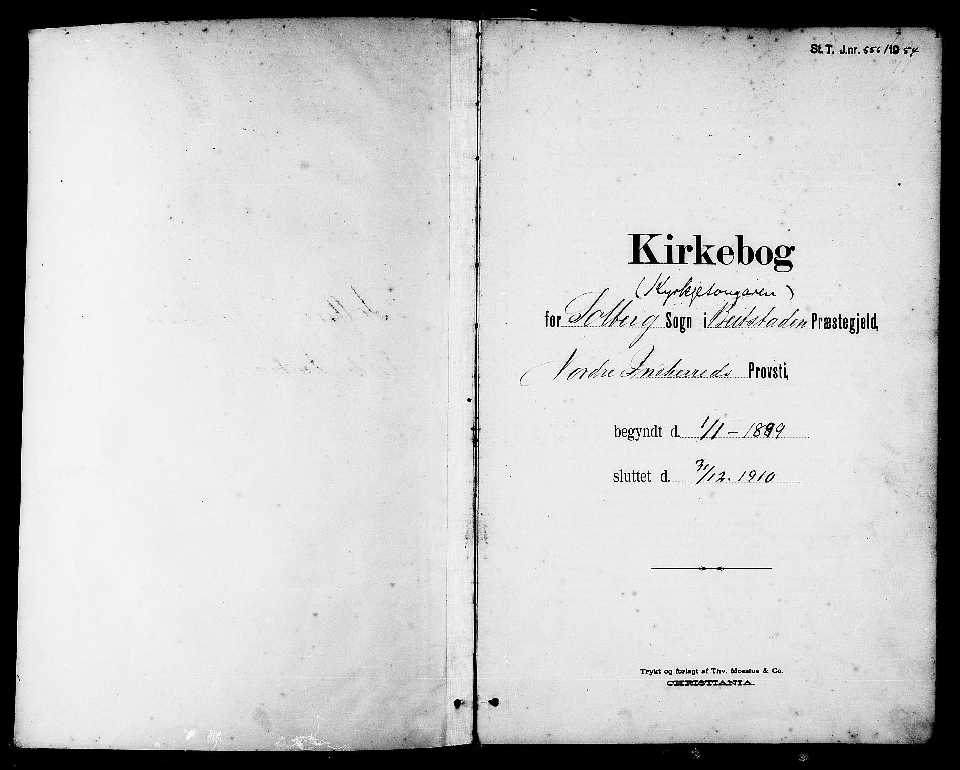 SAT, Ministerialprotokoller, klokkerbøker og fødselsregistre - Nord-Trøndelag, 741/L0401: Klokkerbok nr. 741C02, 1899-1911, s. 1