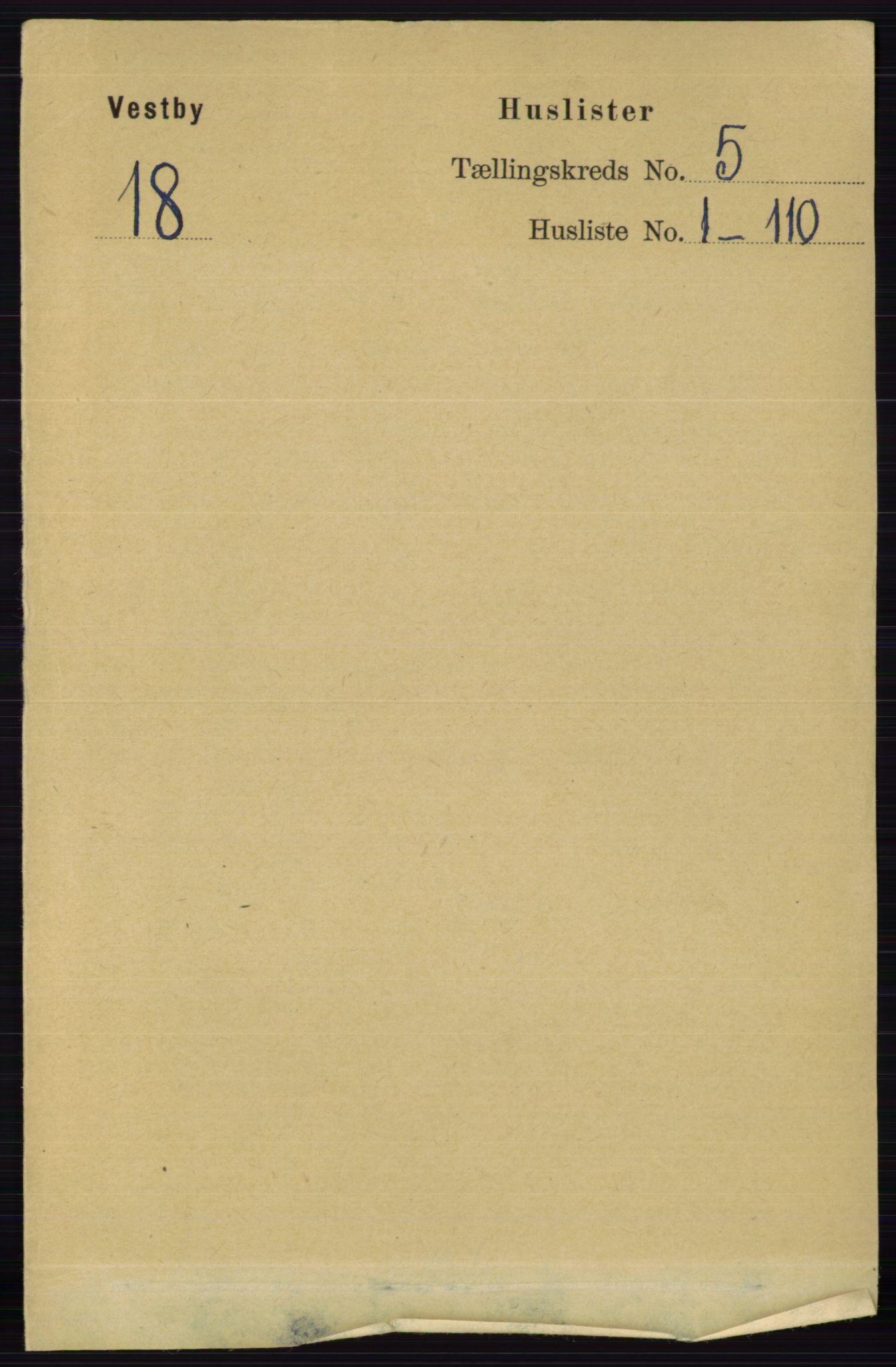 RA, Folketelling 1891 for 0211 Vestby herred, 1891, s. 2044