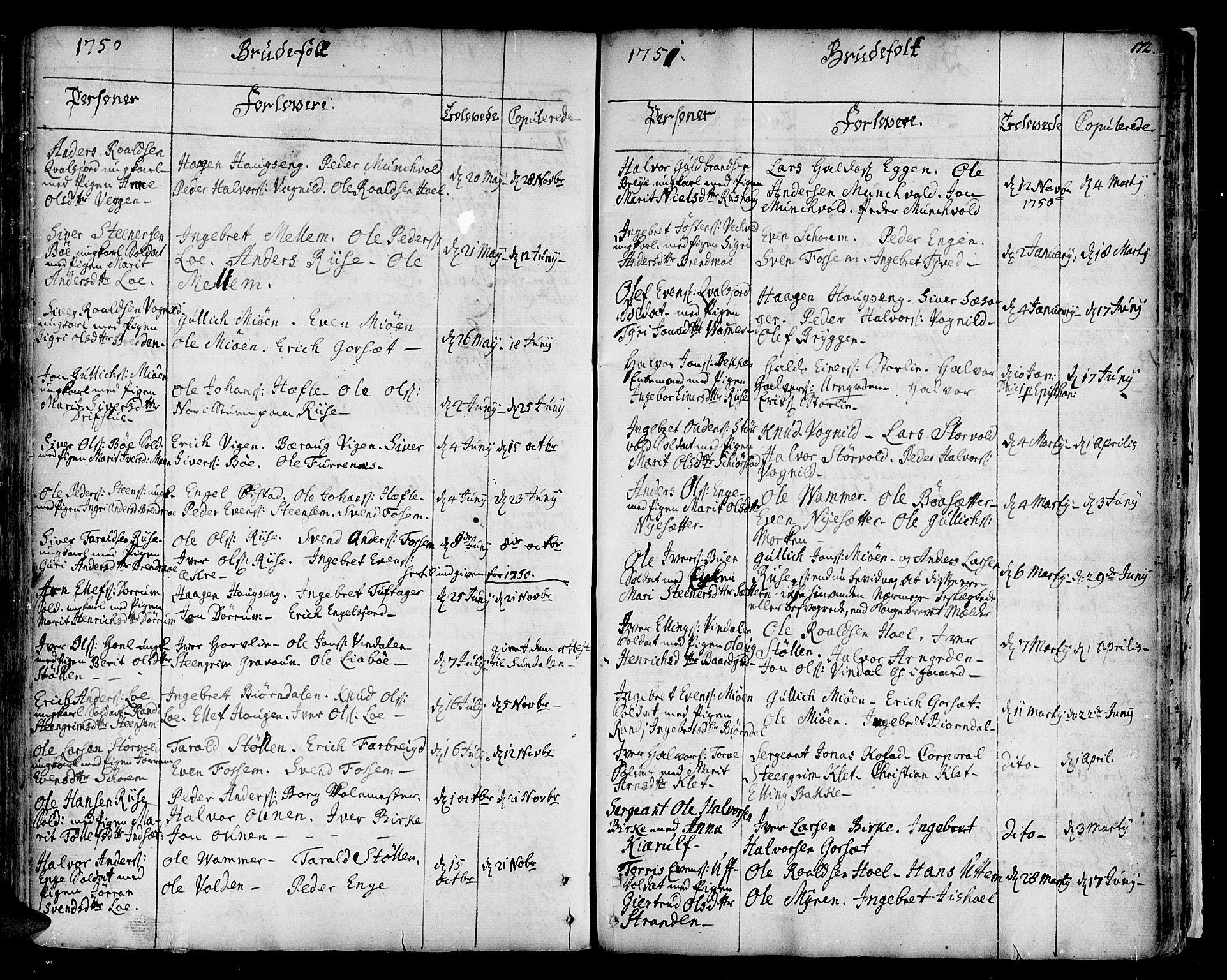 SAT, Ministerialprotokoller, klokkerbøker og fødselsregistre - Sør-Trøndelag, 678/L0891: Ministerialbok nr. 678A01, 1739-1780, s. 172