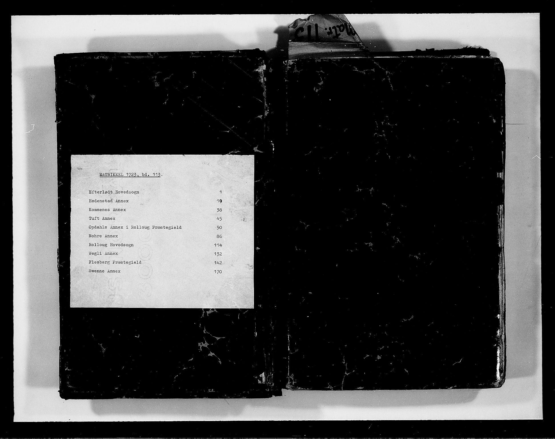 RA, Rentekammeret inntil 1814, Realistisk ordnet avdeling, N/Nb/Nbf/L0113: Numedal og Sandsvær eksaminasjonsprotokoll, 1723, s. upaginert