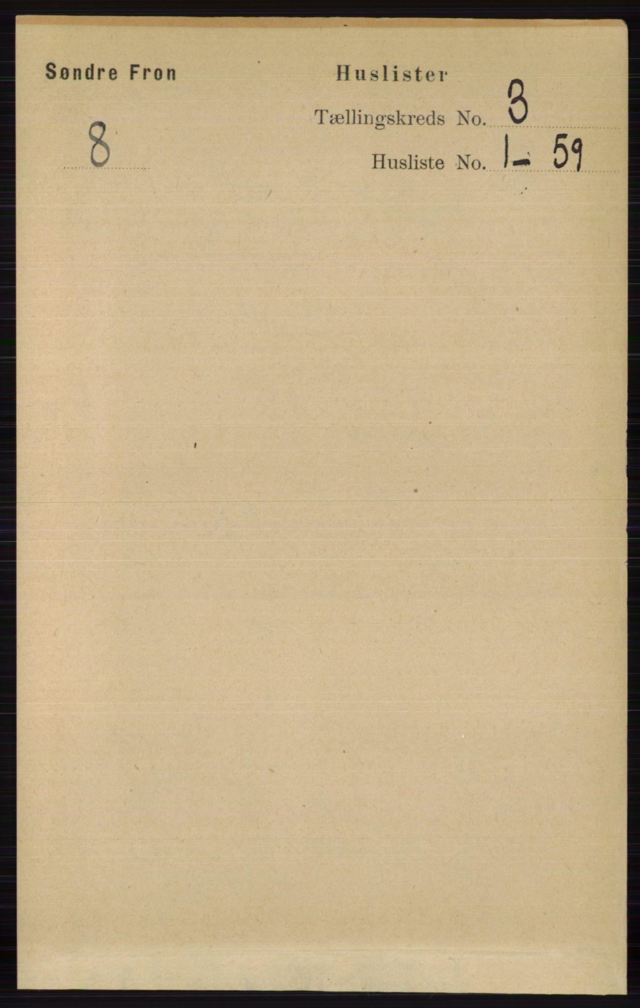 RA, Folketelling 1891 for 0519 Sør-Fron herred, 1891, s. 911
