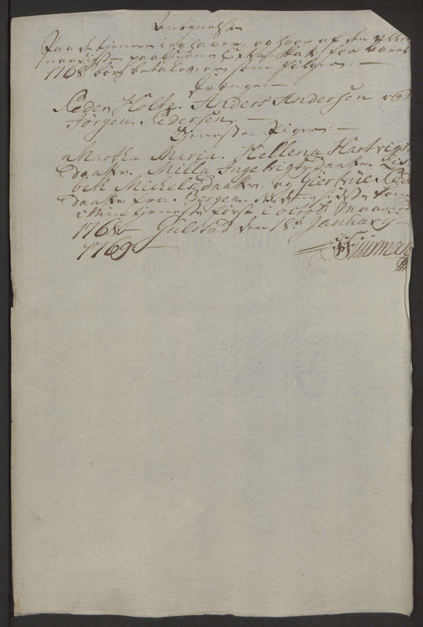 RA, Rentekammeret inntil 1814, Realistisk ordnet avdeling, Ol/L0022a: [Gg 10]: Ekstraskatten, 23.09.1762. Nordlands amt, 1763-1769, s. 65