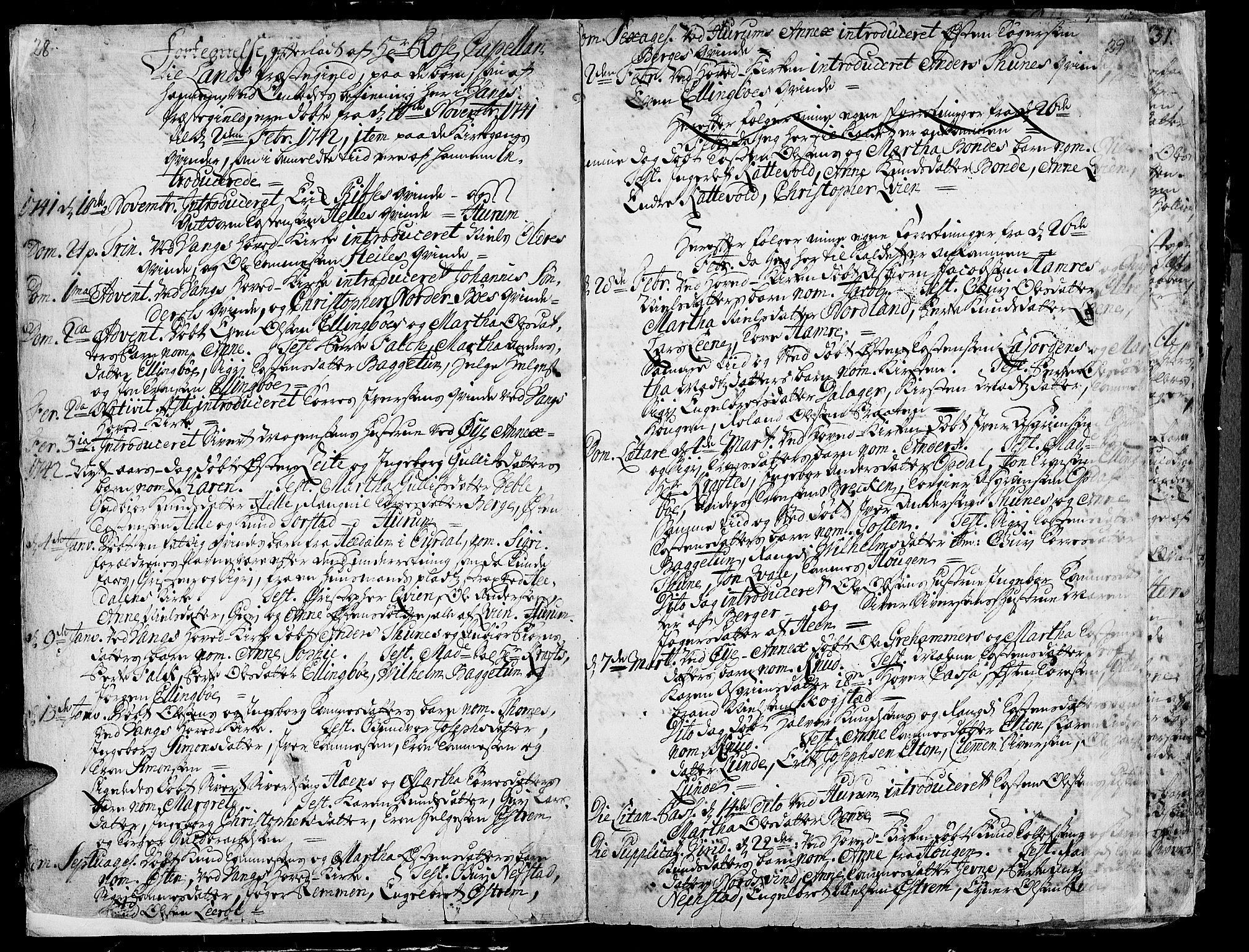 SAH, Vang prestekontor, Valdres, Ministerialbok nr. 1, 1730-1796, s. 28-29