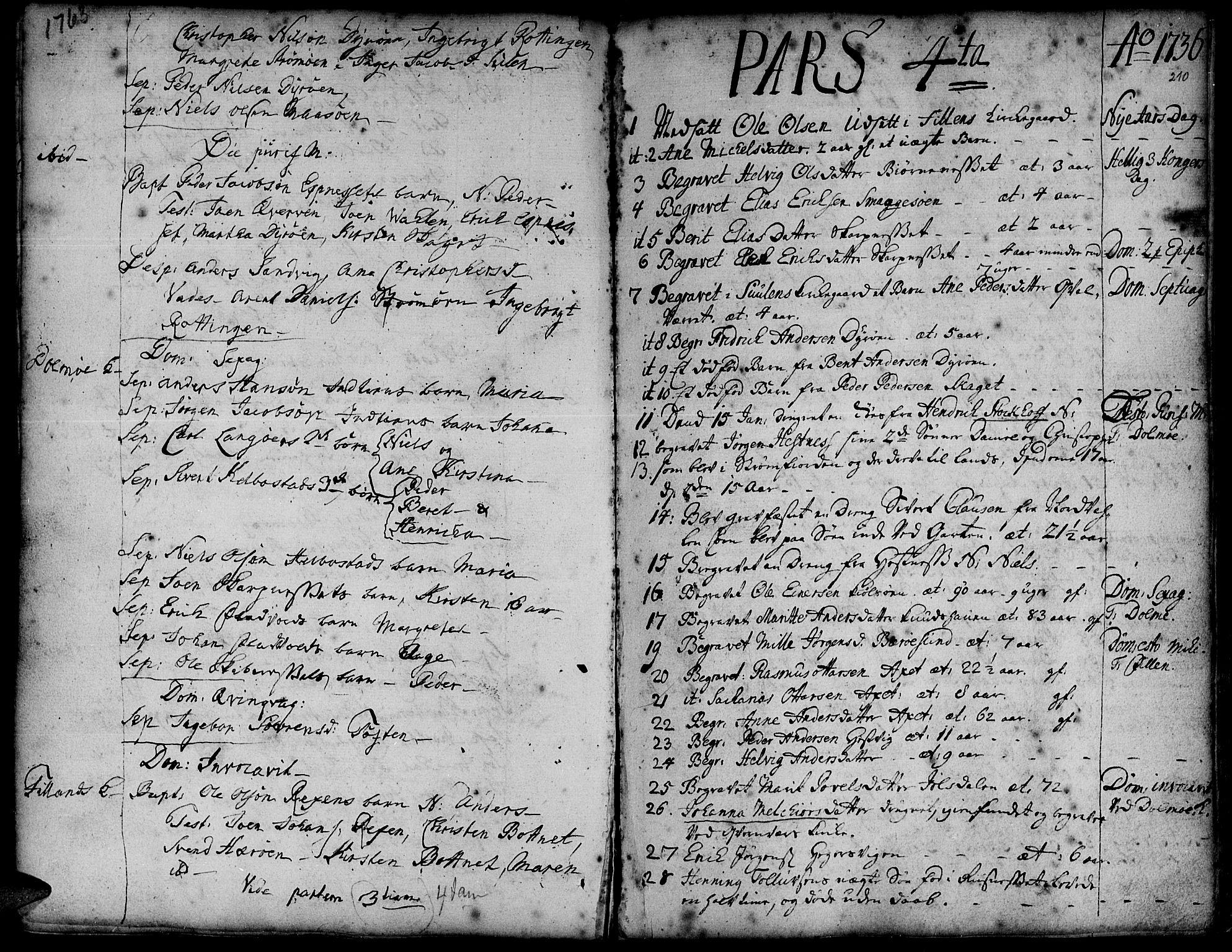 SAT, Ministerialprotokoller, klokkerbøker og fødselsregistre - Sør-Trøndelag, 634/L0525: Ministerialbok nr. 634A01, 1736-1775, s. 210