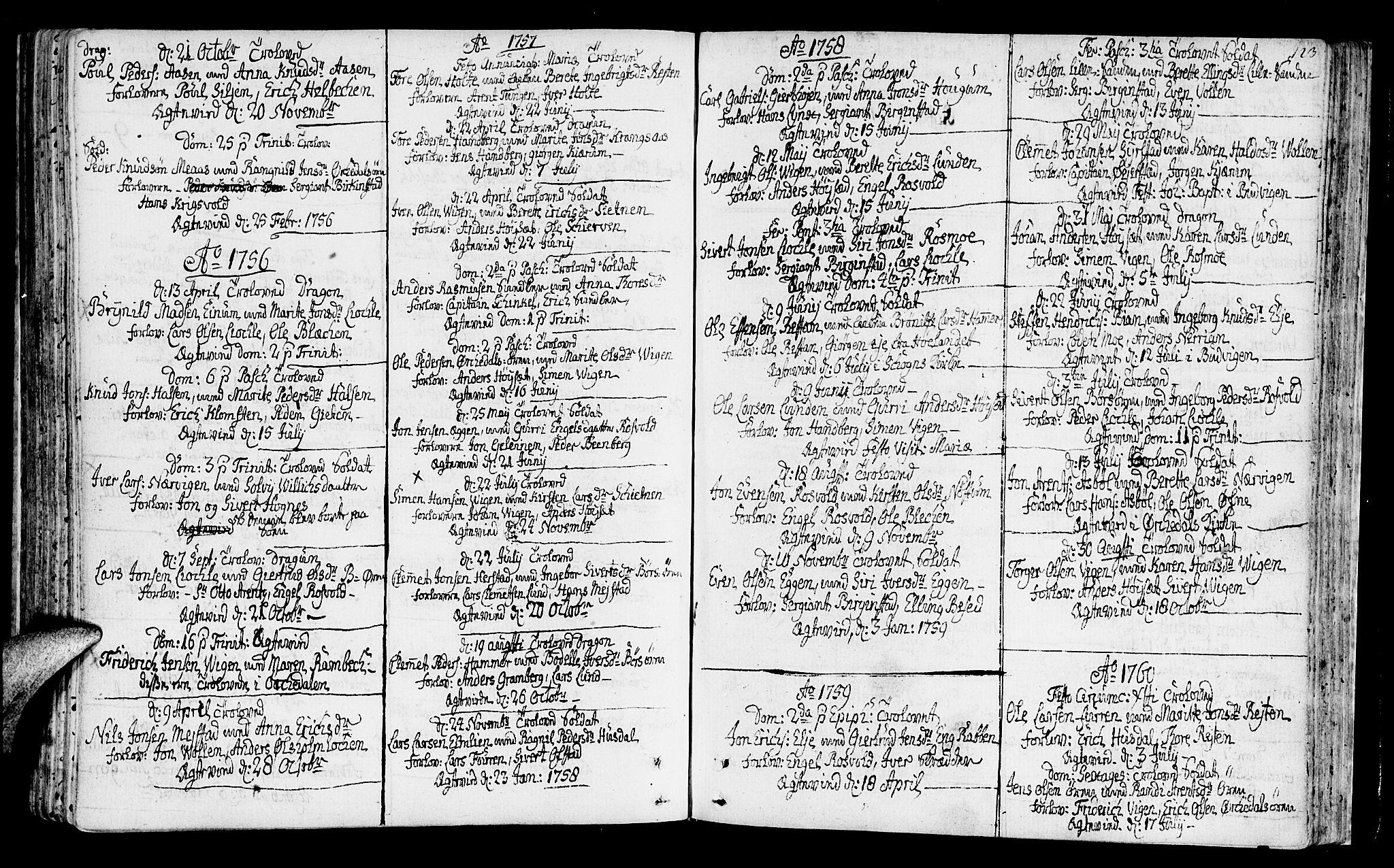 SAT, Ministerialprotokoller, klokkerbøker og fødselsregistre - Sør-Trøndelag, 665/L0768: Ministerialbok nr. 665A03, 1754-1803, s. 123