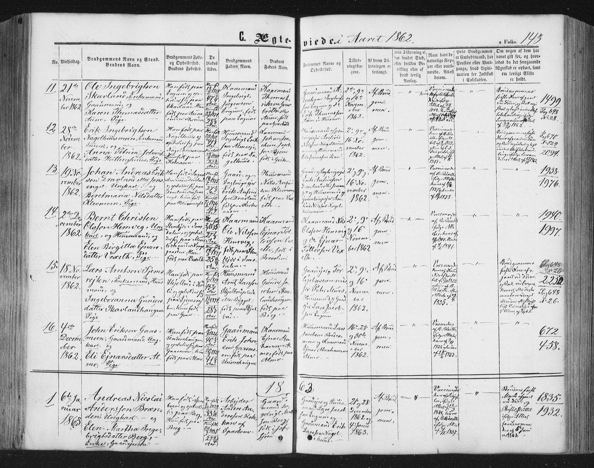 SAT, Ministerialprotokoller, klokkerbøker og fødselsregistre - Nord-Trøndelag, 749/L0472: Ministerialbok nr. 749A06, 1857-1873, s. 143