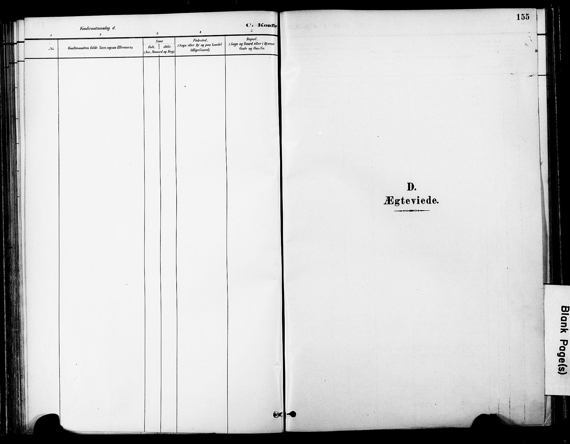 SAT, Ministerialprotokoller, klokkerbøker og fødselsregistre - Nord-Trøndelag, 755/L0494: Ministerialbok nr. 755A03, 1882-1902, s. 155